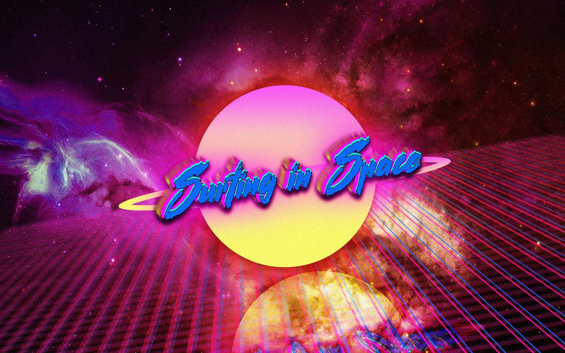 Wallpaper : illustration, digital art, neon, typography, Retro style, vintage, universe, color ...