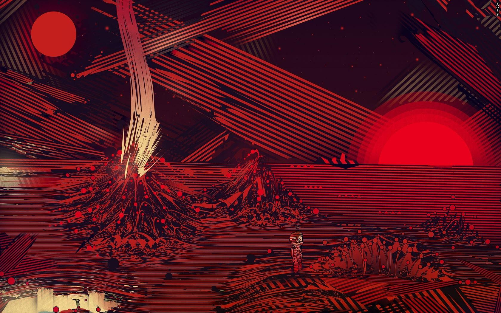 Wallpaper Illustration Digital Art Red Artwork