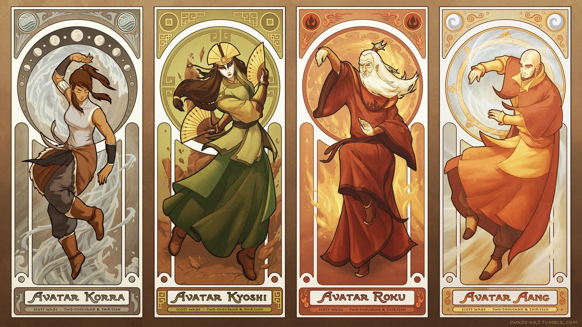 Wallpaper Illustration Elements Korra Comics Avatar The Last