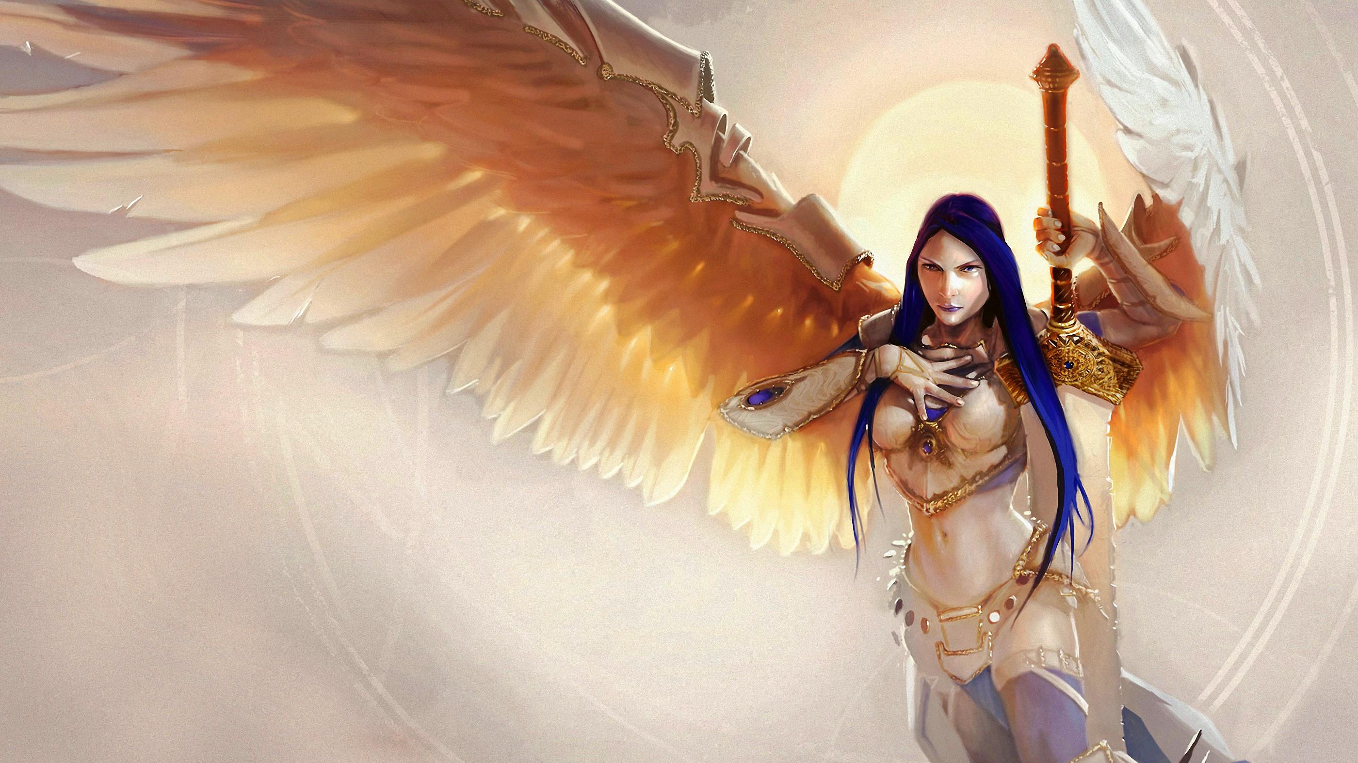 Wallpaper Illustration Fantasy Art Anime Angel Magic The