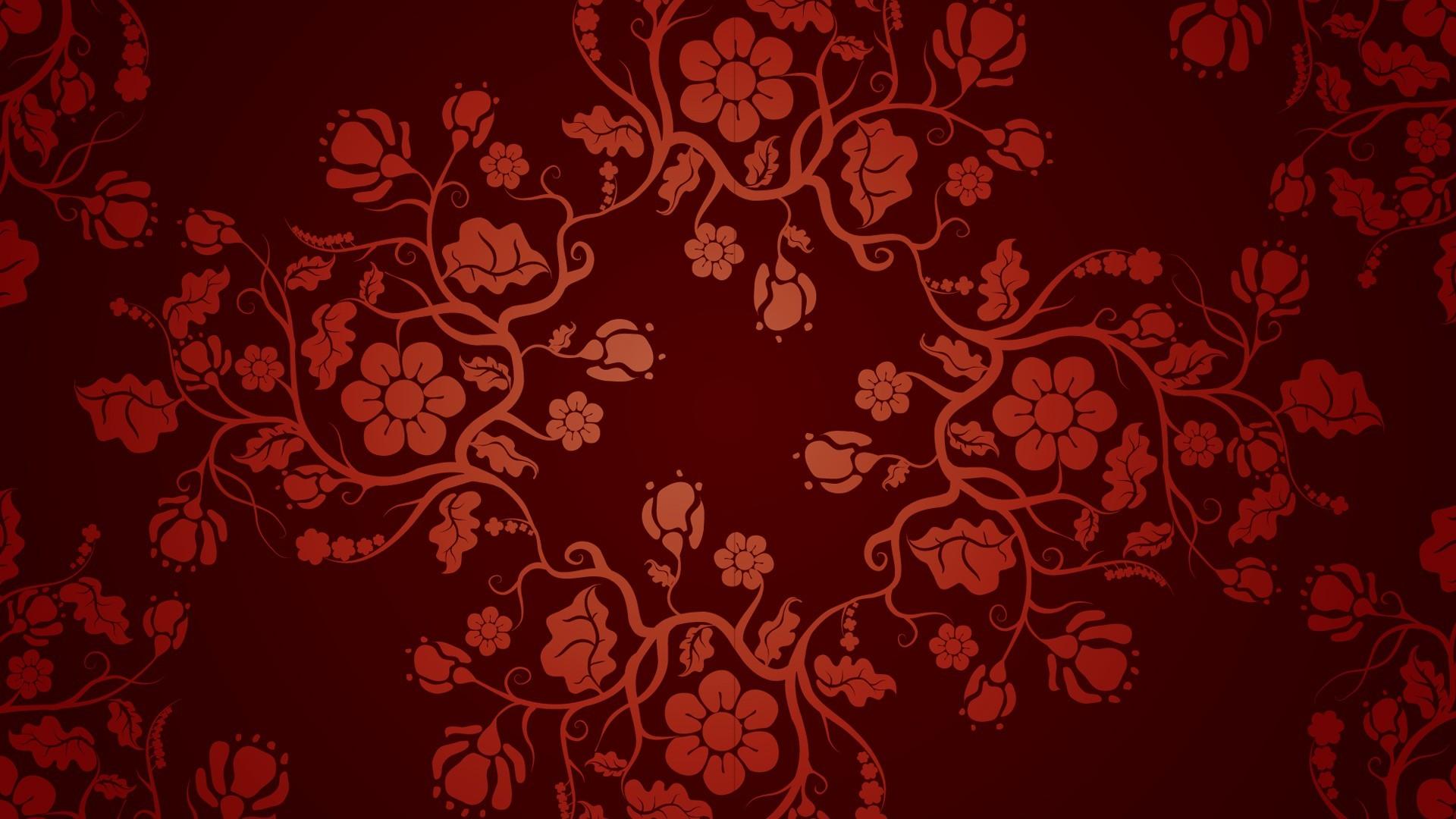 illustration fantasiekunst rot muster textur kreis blumen kunst blume entwurf tapete 1920x1080 px computer - Tapete Rot Muster