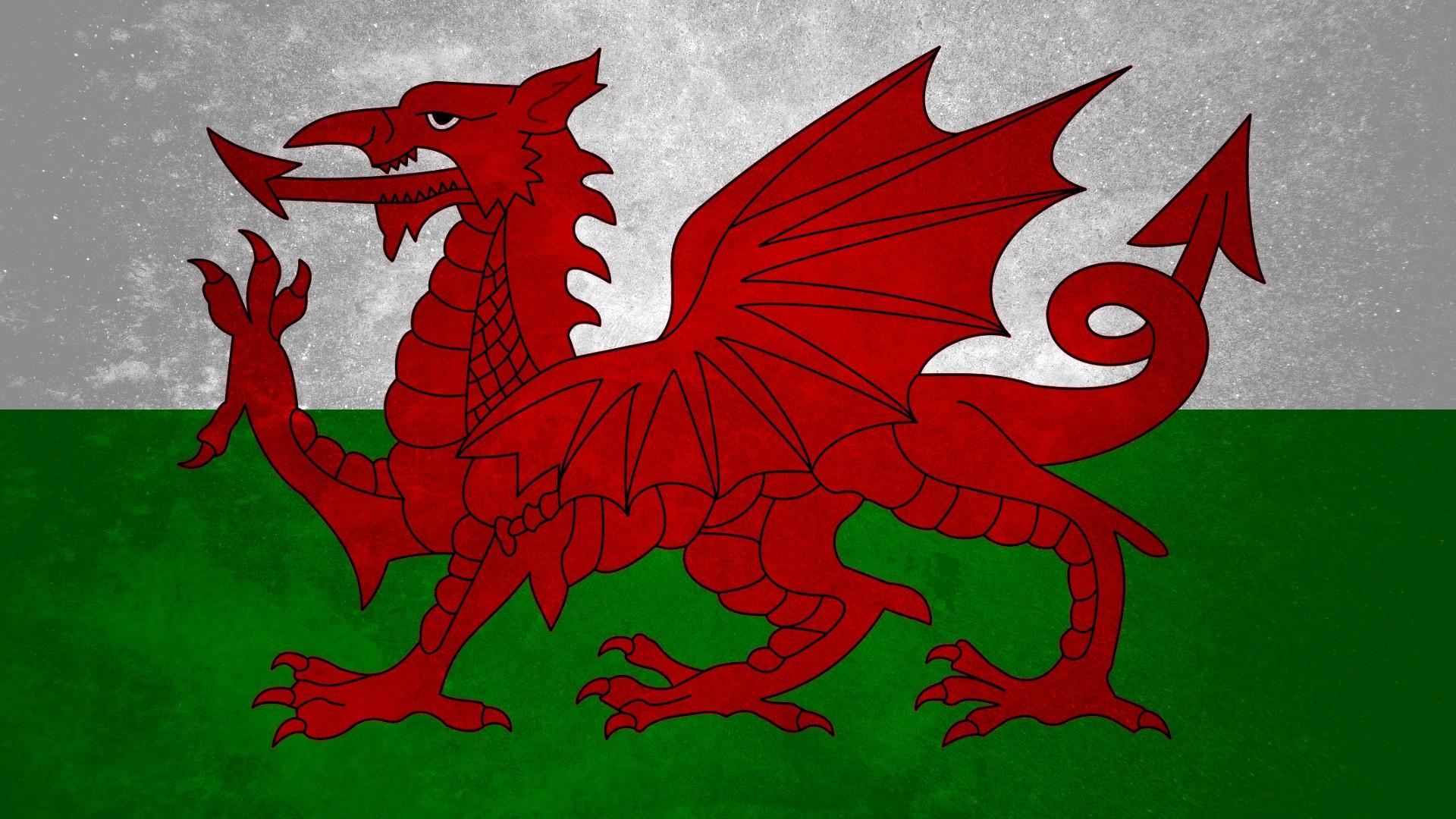 Fond D'écran : Illustration, Drapeau, Dragon, Pays De Galles, Personnage Fictif, Police De