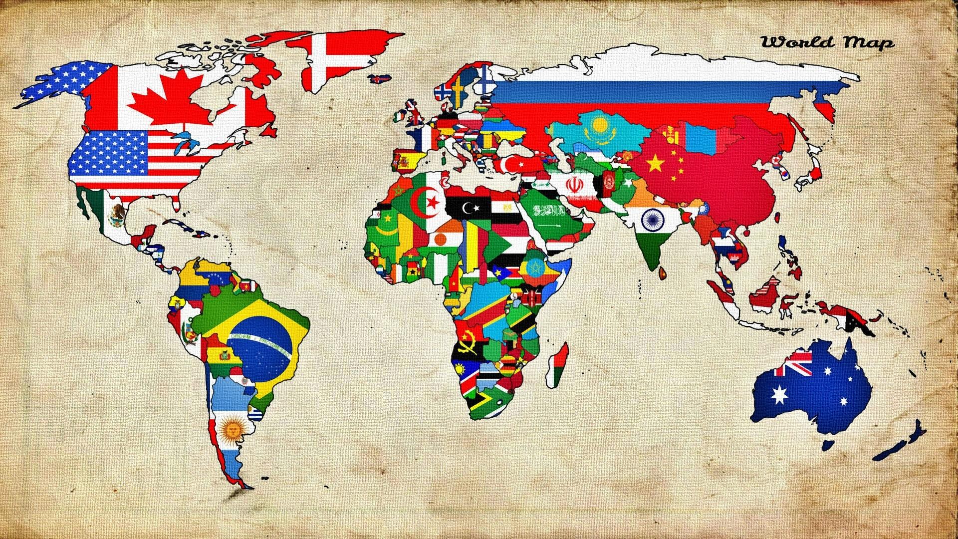Wallpaper illustration flag world map countries mural art illustration flag world map countries mural art 1920x1080 px font child art gumiabroncs Gallery