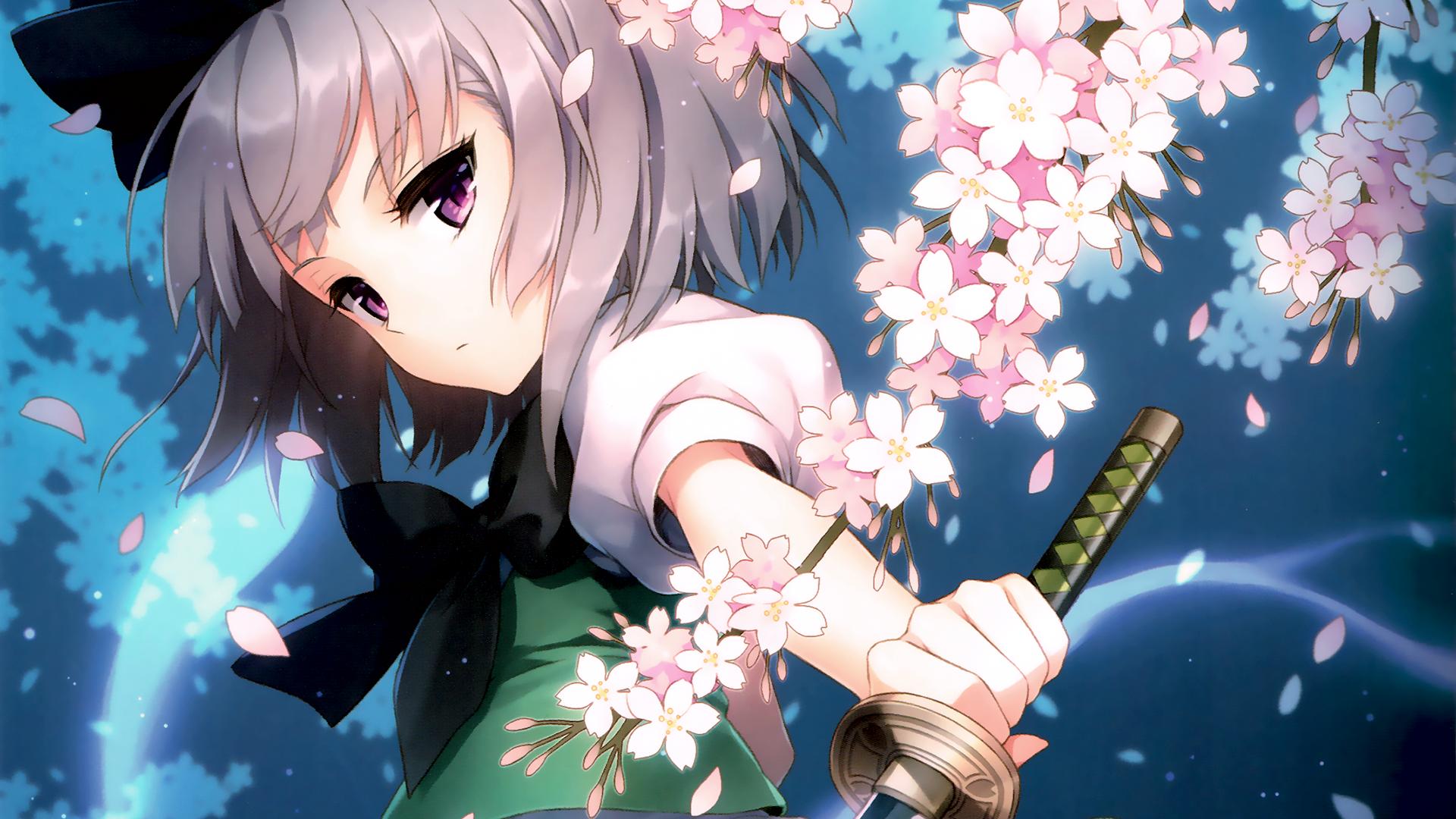 Fondos de pantalla : ilustración, Flores, Anime, Touhou