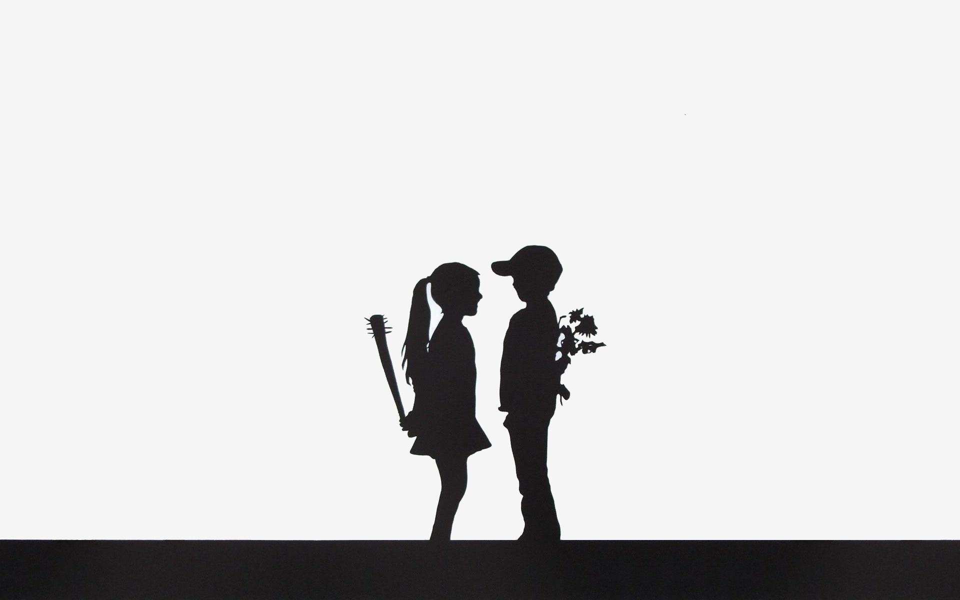 Wallpaper Illustration Flowers Silhouette Brand Boy