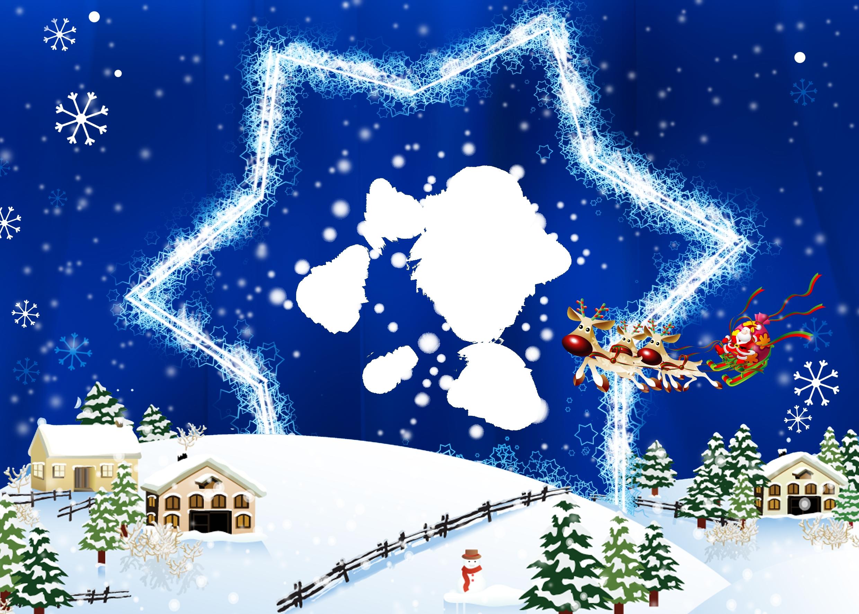 Sfondi Natalizi Renne.Sfondi Illustrazione Volante Pupazzo Di Neve Albero Di Natale