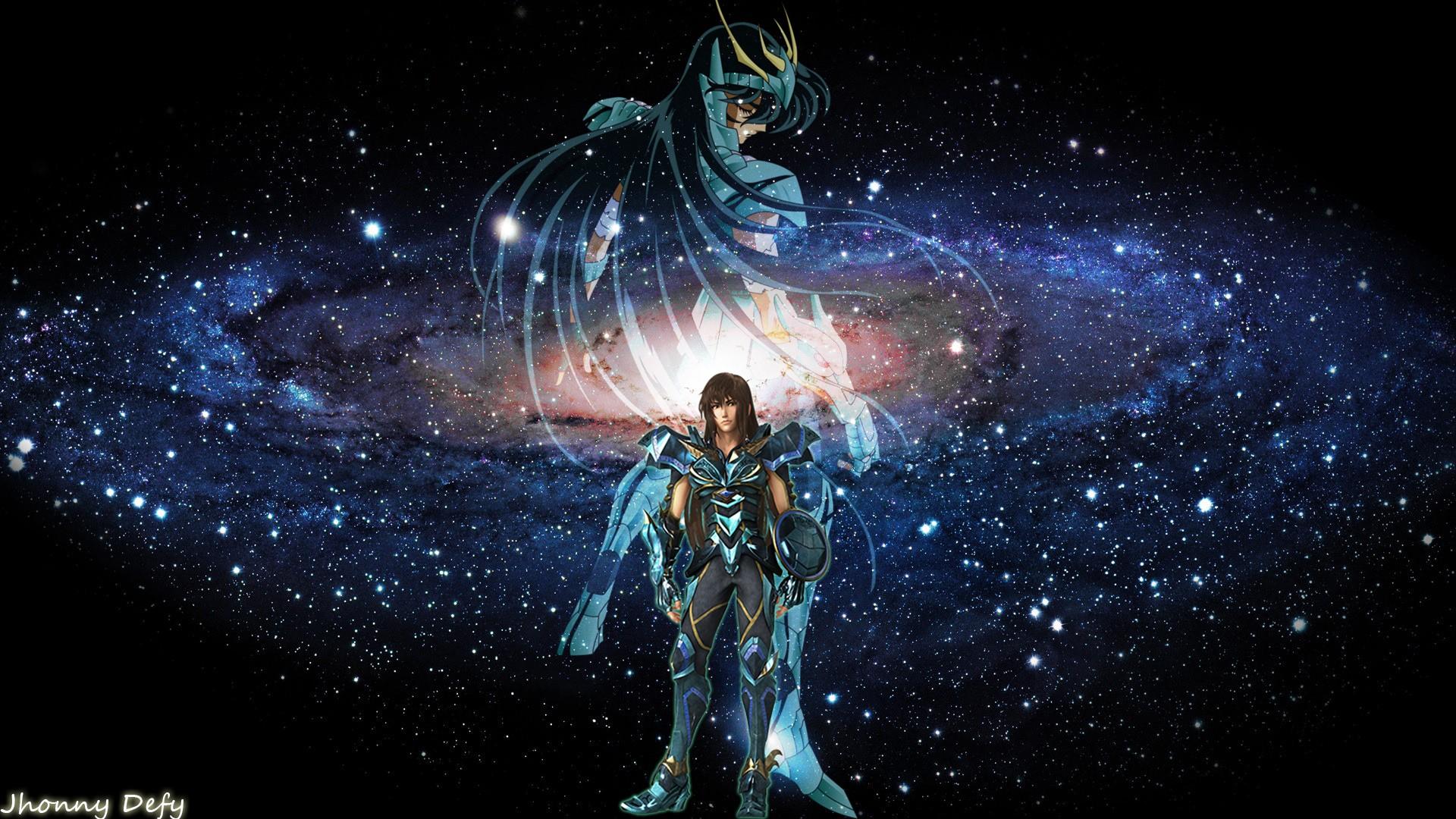 デスクトップ壁紙 図 銀河 スペース 真夜中 聖闘士星矢聖域の
