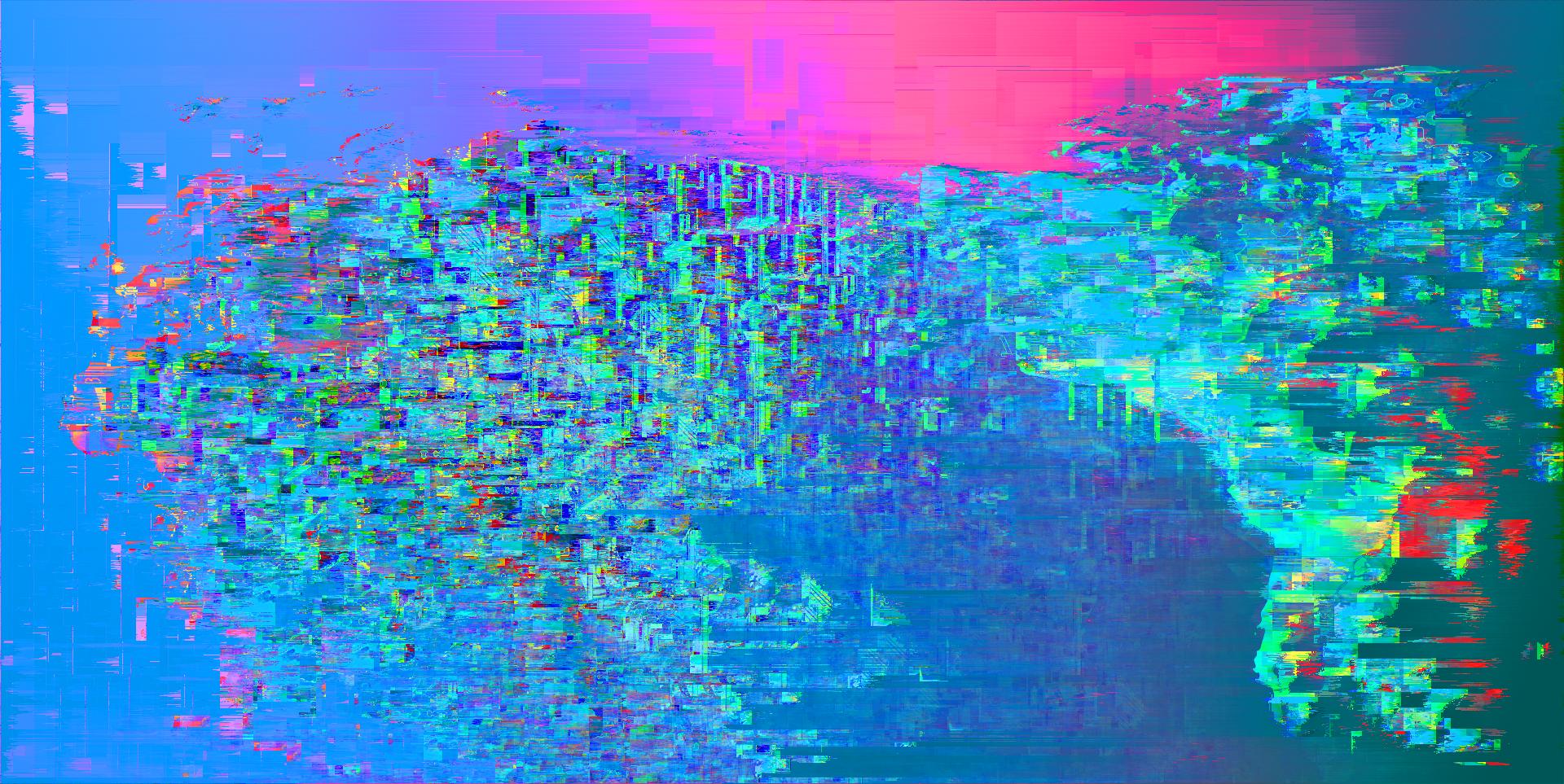 Moderne Weihnachtsbeleuchtung.Hintergrundbilder Illustration Glitch Art Blau