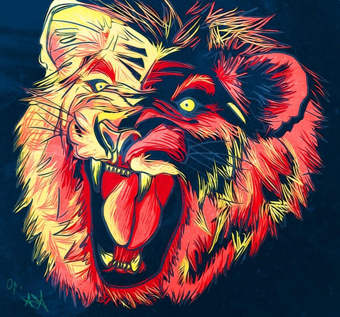 Wallpaper : Illustration, Graphic Design, Roar, Movie