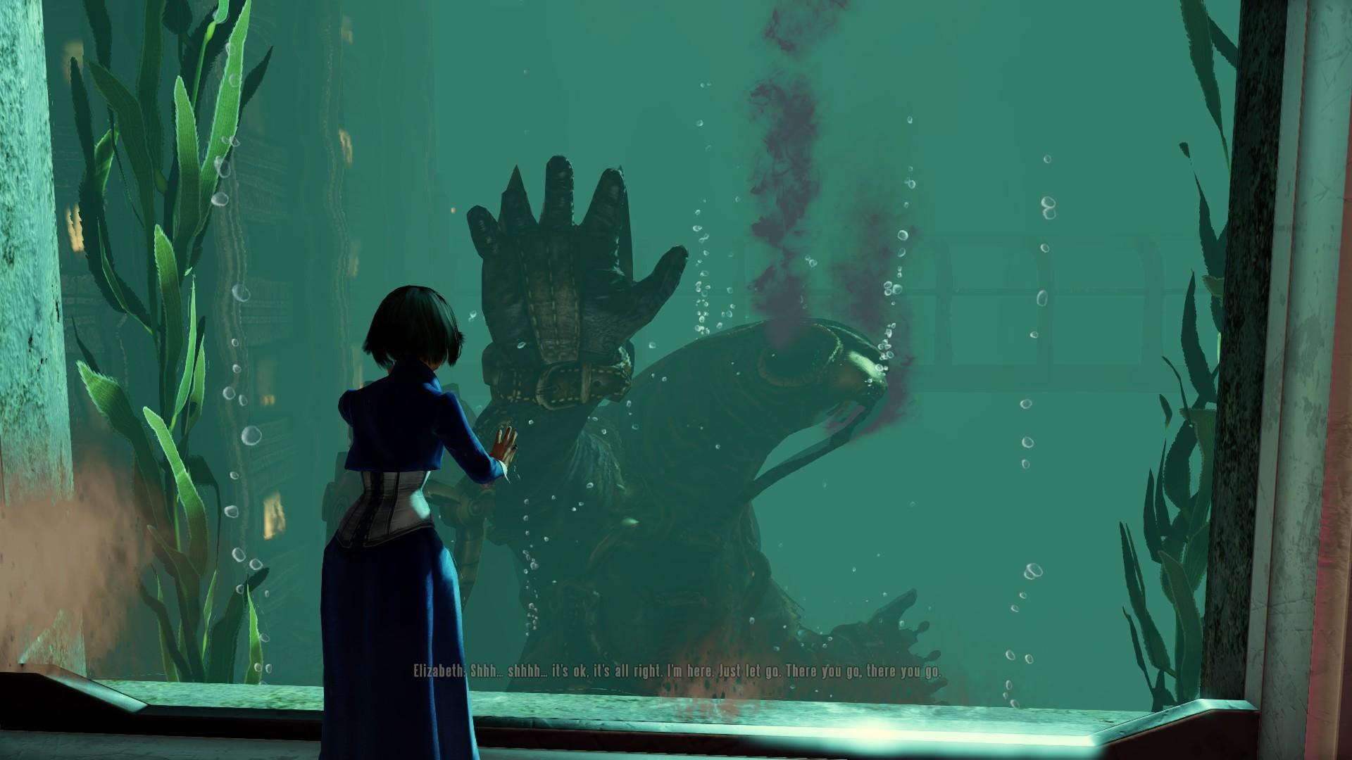 Wallpaper : illustration, green, underwater, Elizabeth BioShock