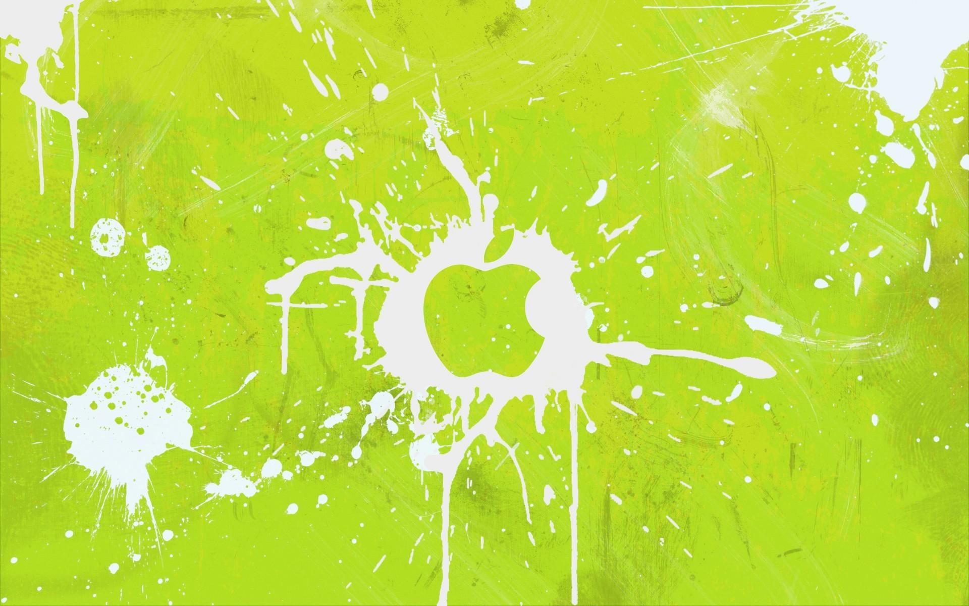 Sfondi Illustrazione Verde Giallo Cerchio Vernice Splatter La