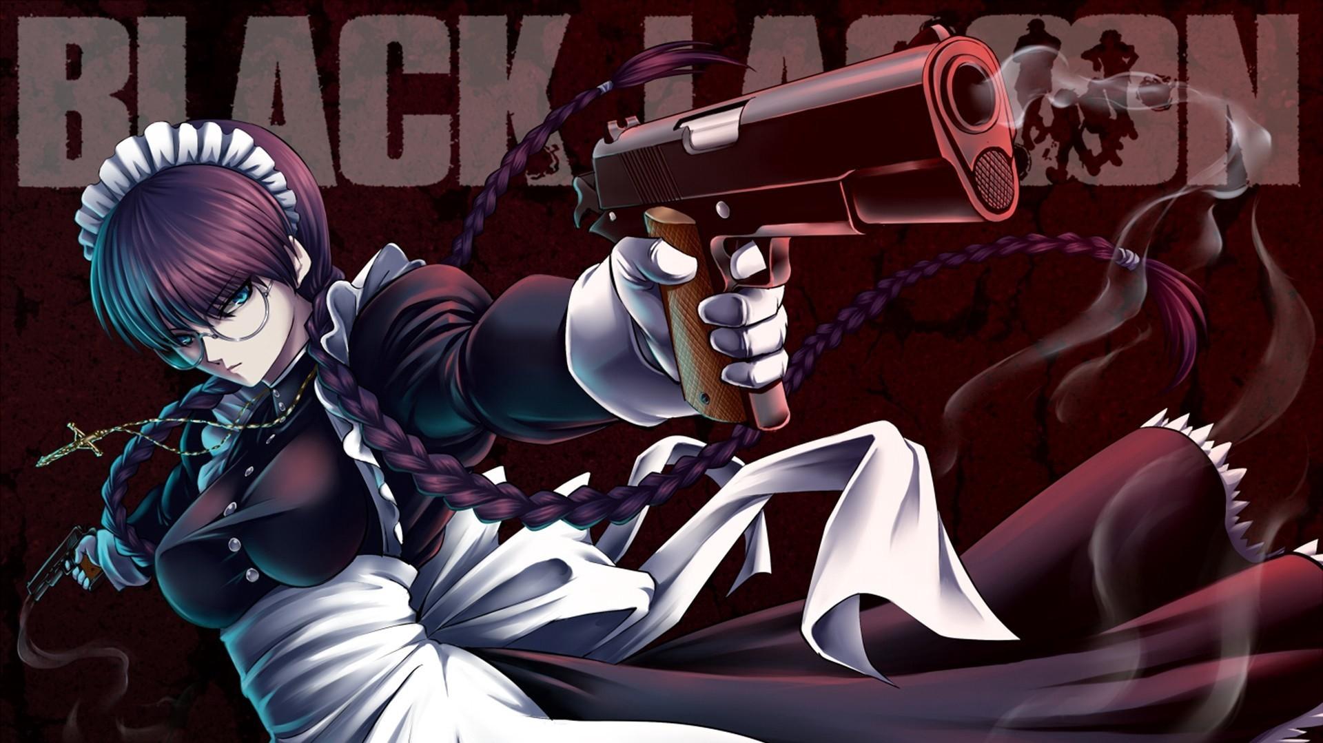 デスクトップ壁紙 図 銃 アニメの女の子 ブラックラグーン