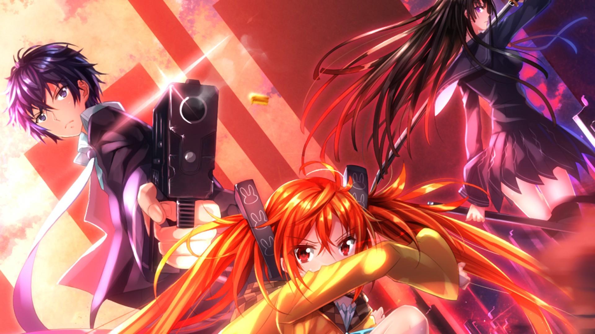 wallpaper : illustration, gun, anime girls, sword, swordsouls, black