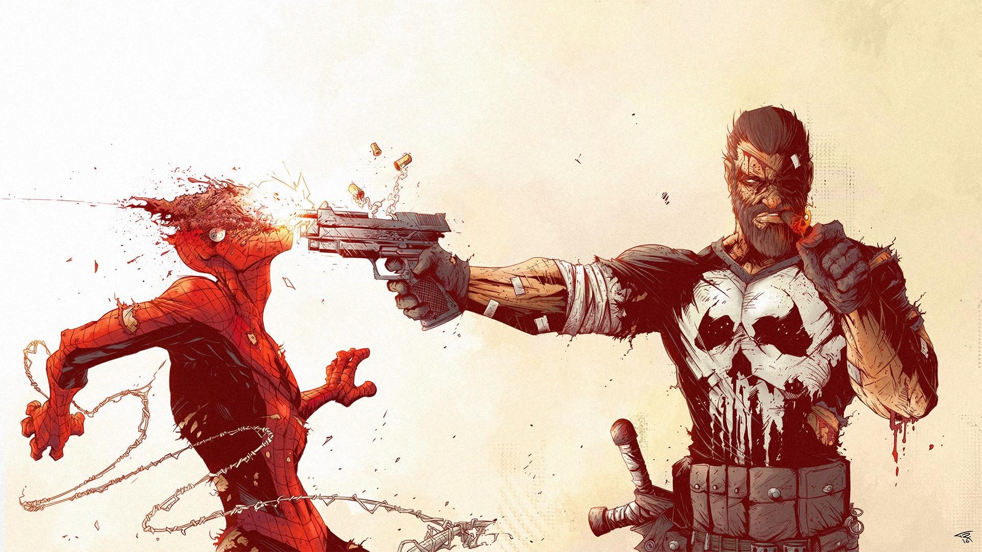 Best Wallpaper Marvel Punisher - illustration-gun-red-cartoon-Marvel-Comics-Spider-Man-comics-The-Punisher-sketch-266895  2018_437366.jpg