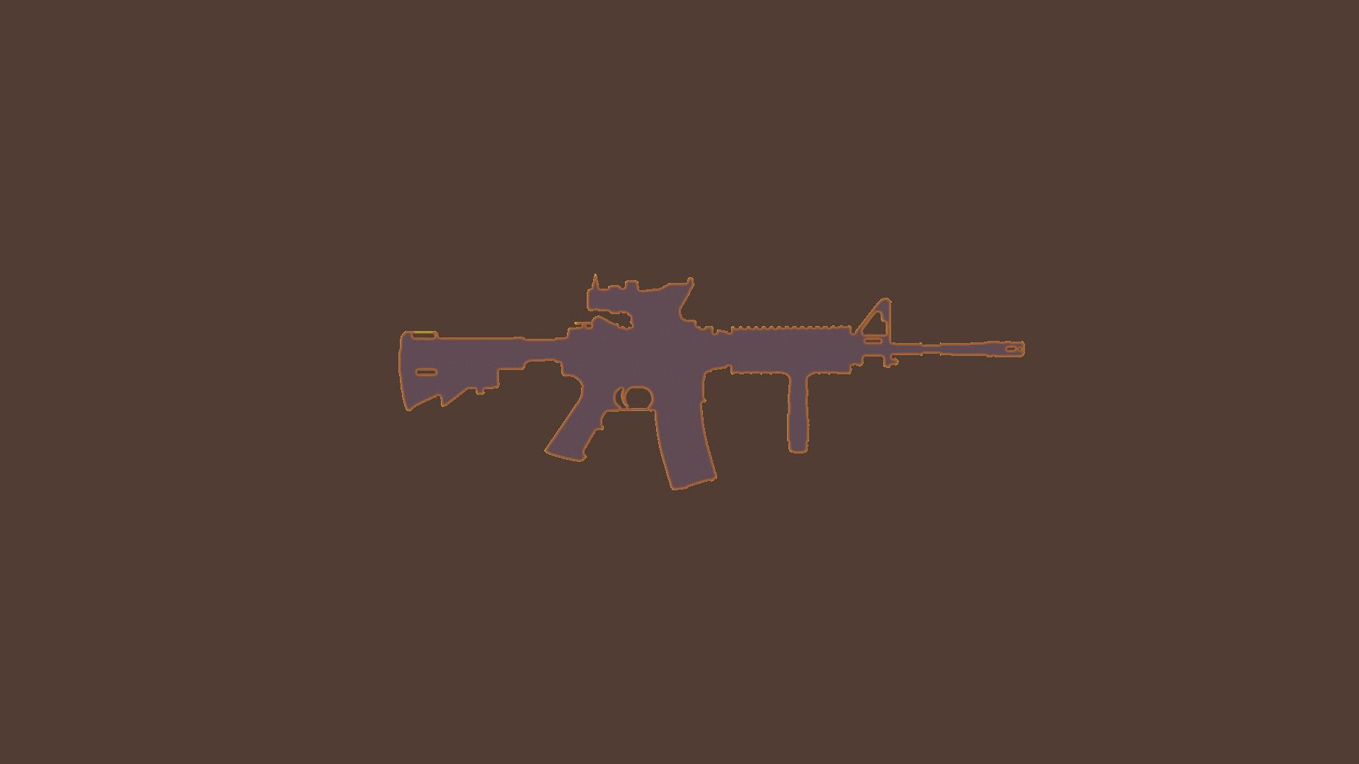 Wallpaper illustration silhouette text cross machine gun ar illustration gun silhouette text cross machine gun ar 15 acog m4a1 m416 symbol font biocorpaavc