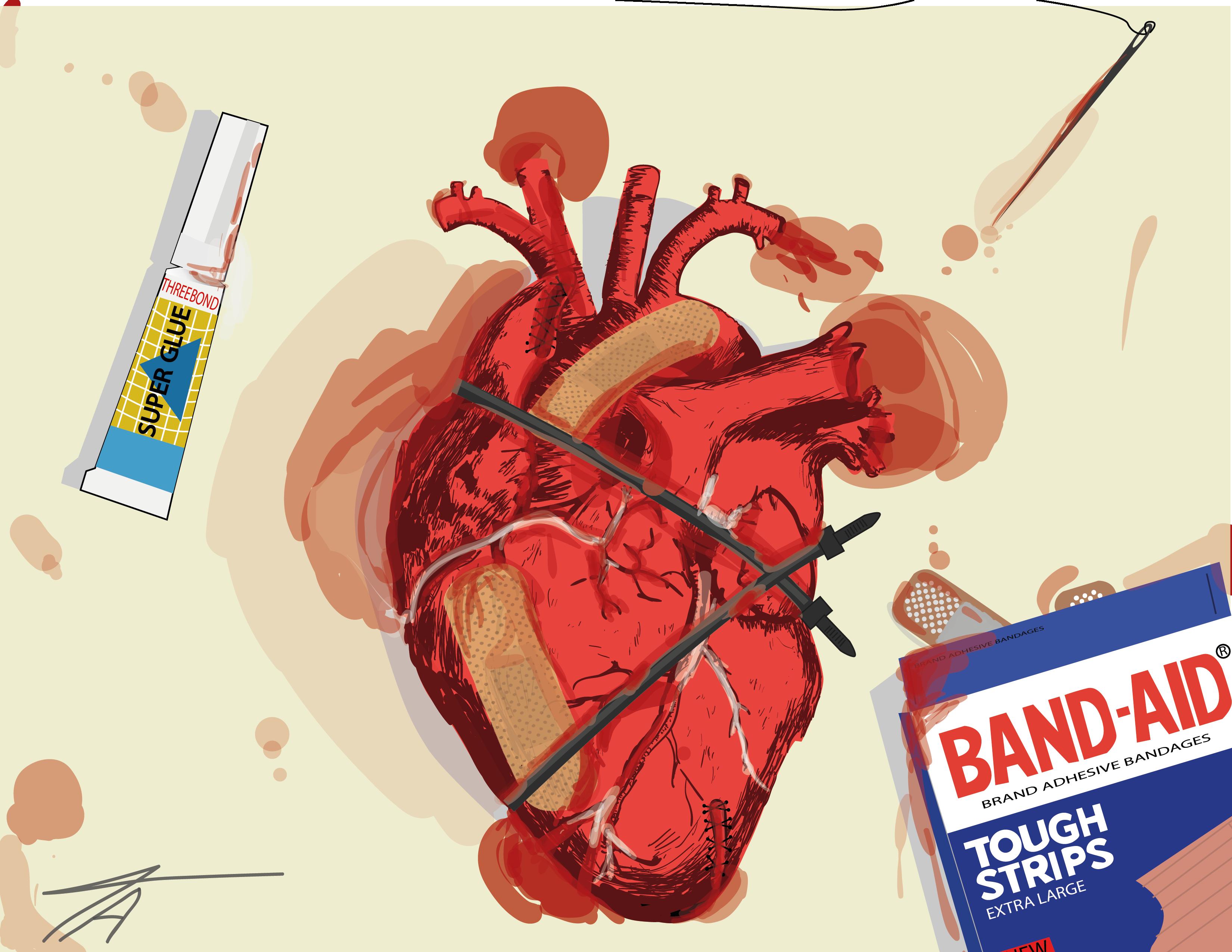 Hintergrundbilder : Illustration, Herz, Karikatur, Comics, Marke ...