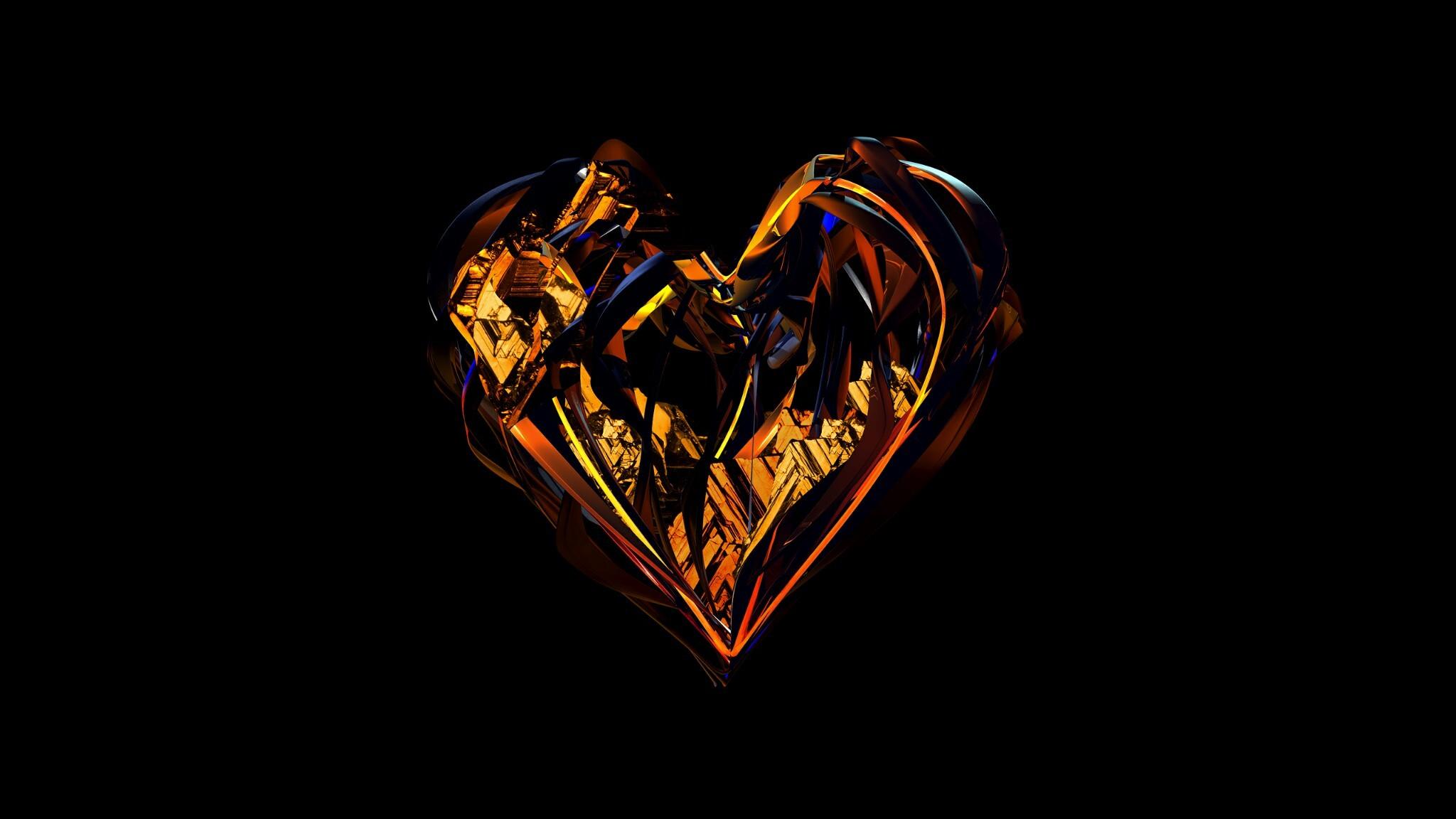 Wallpaper Illustration Heart Darkness Jewellery