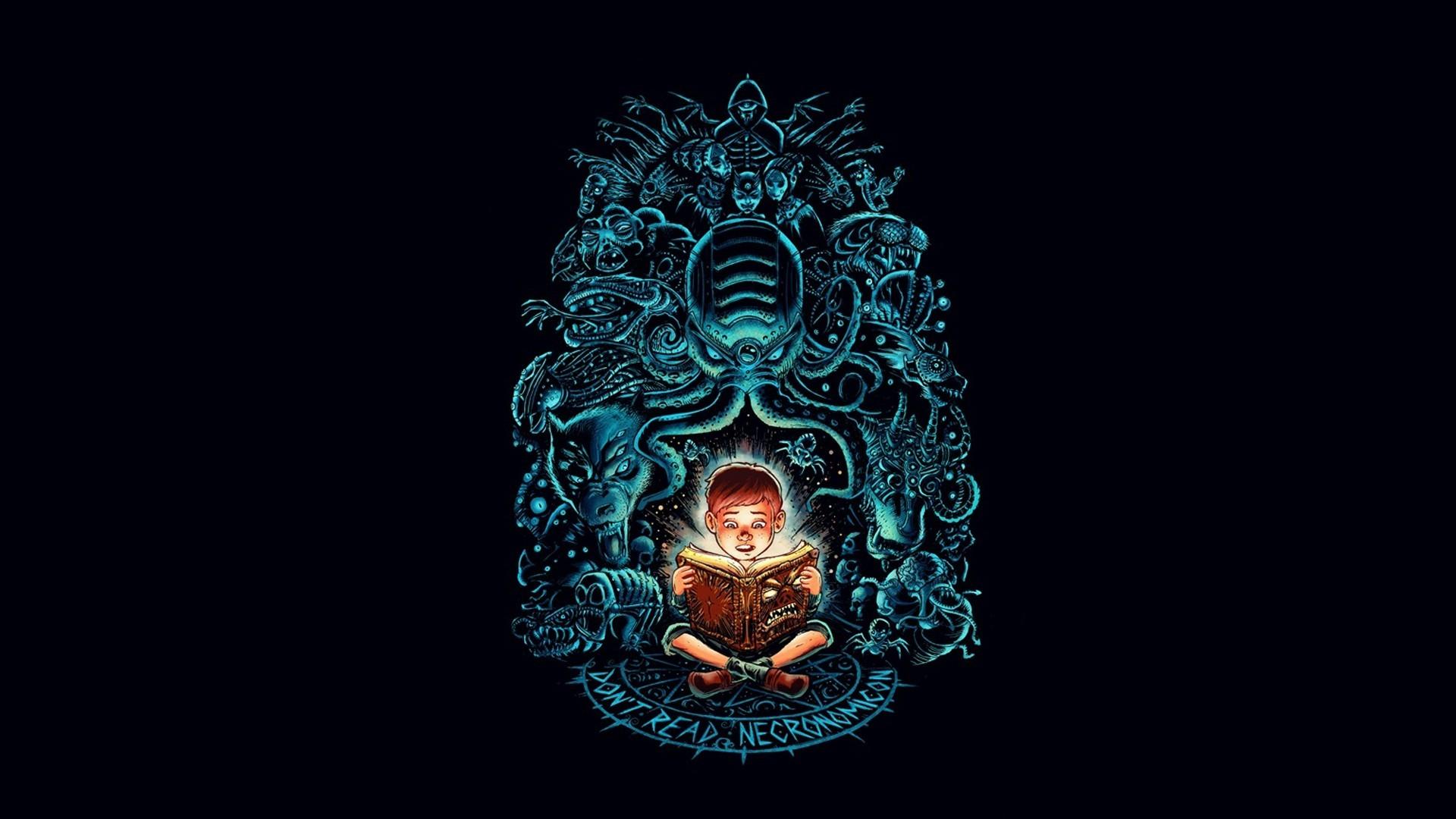 Hp Lovecraft Art Wallpapers: Wallpaper : Illustration, Horror, Minimalism, Reading