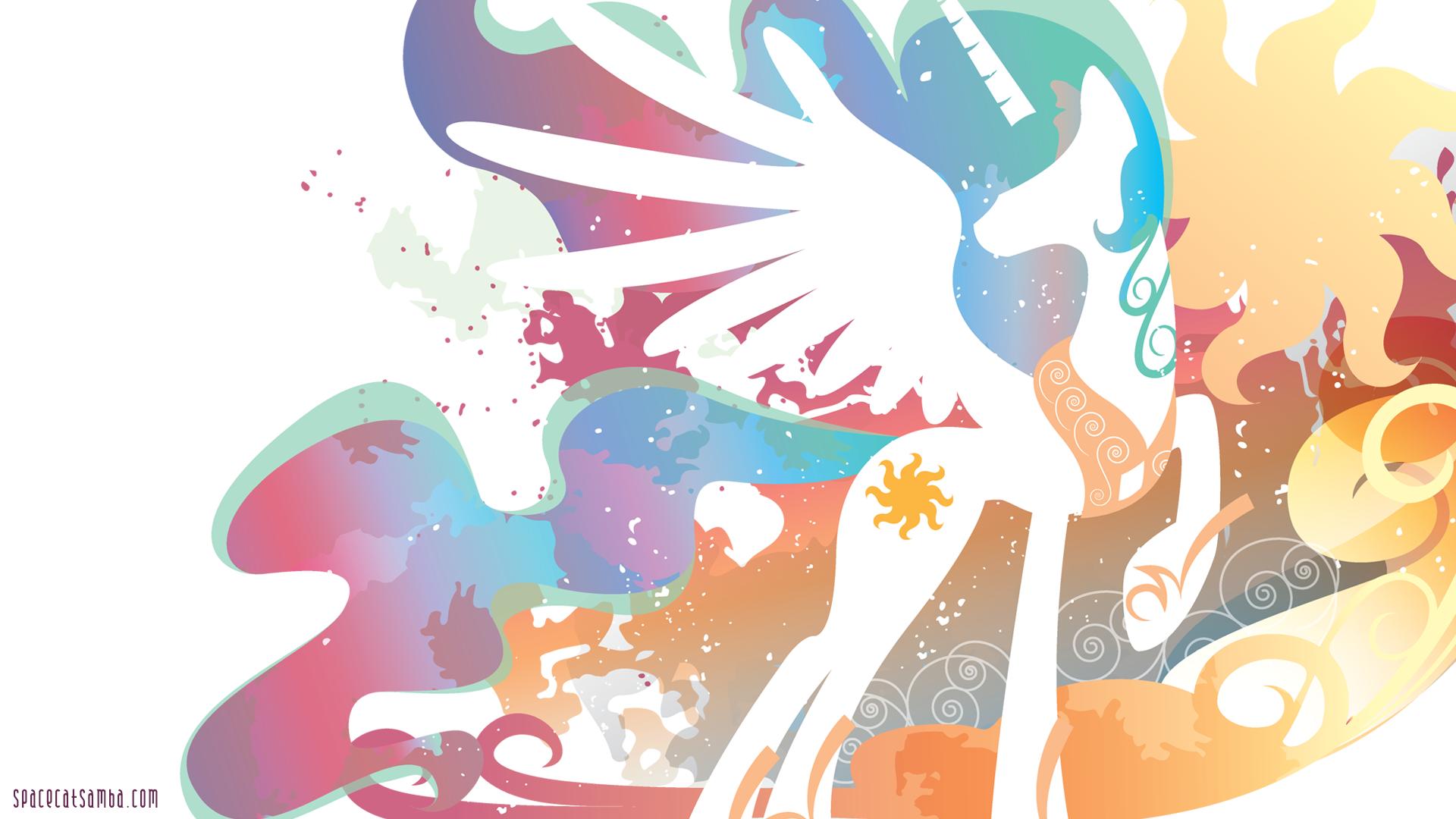 Wallpaper Ilustrasi Gambar Kartun My Little Pony Putri Celestia 1920x1080 Px Fon Kuda Seperti Mamalia 1920x1080 Wallhaven 545129 Hd Wallpapers Wallhere