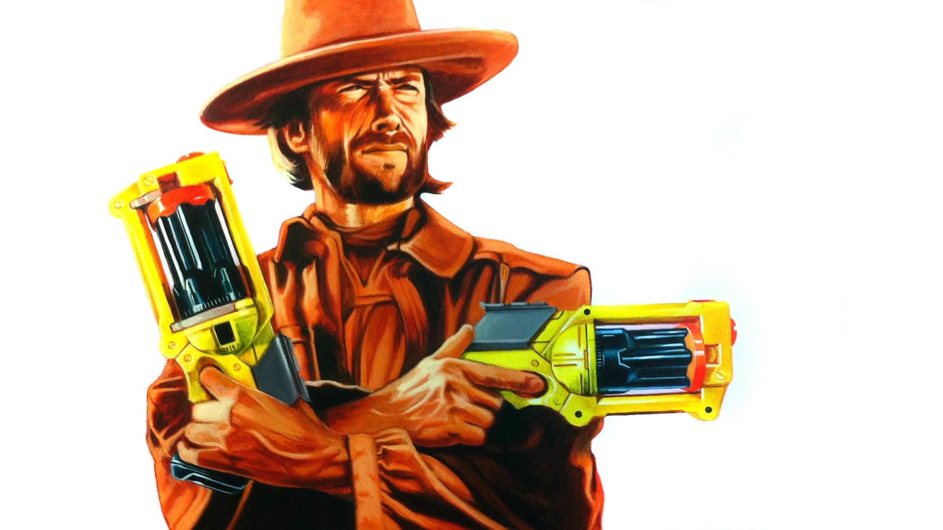 Wallpaper illustration humor artwork toy person - Nerf wallpaper ...