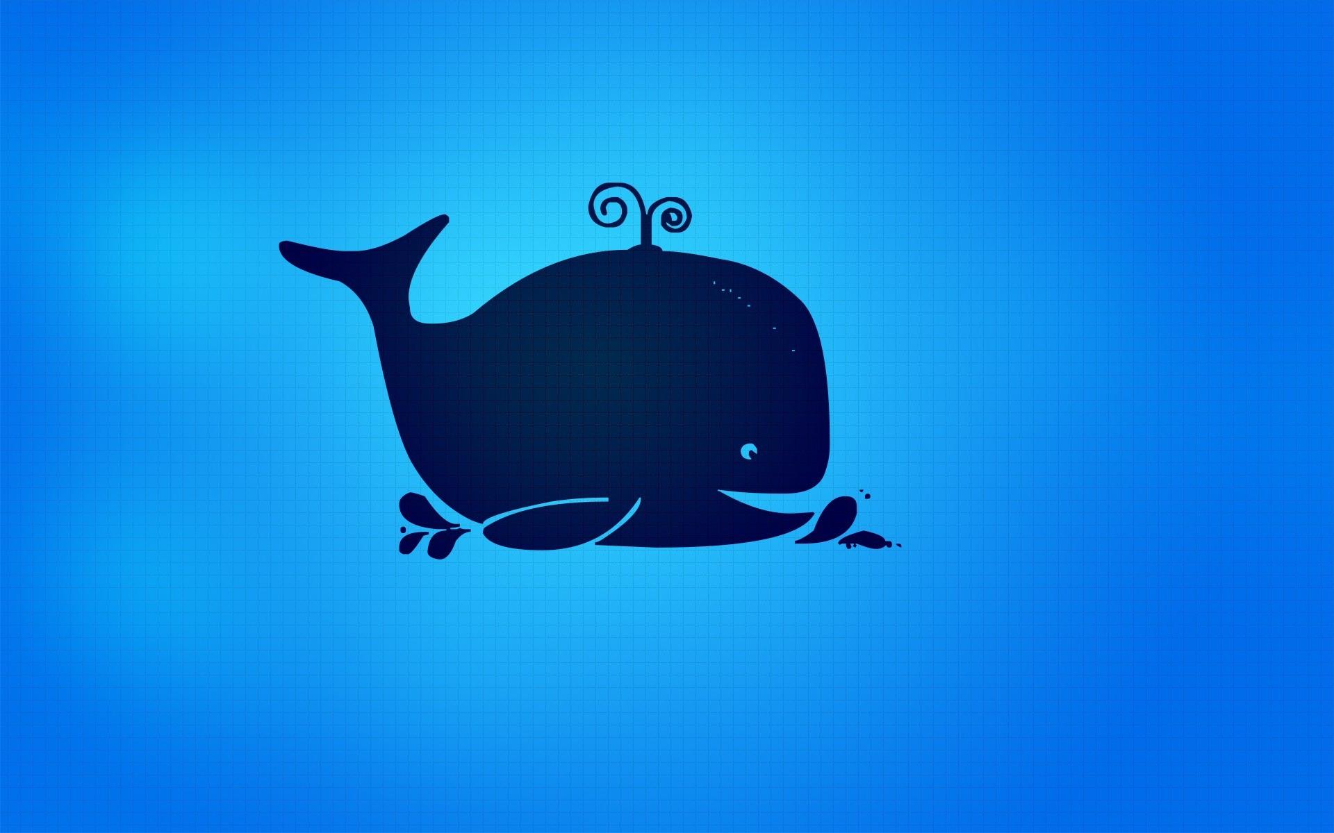 Sfondi illustrazione logo blu cartone animato balena
