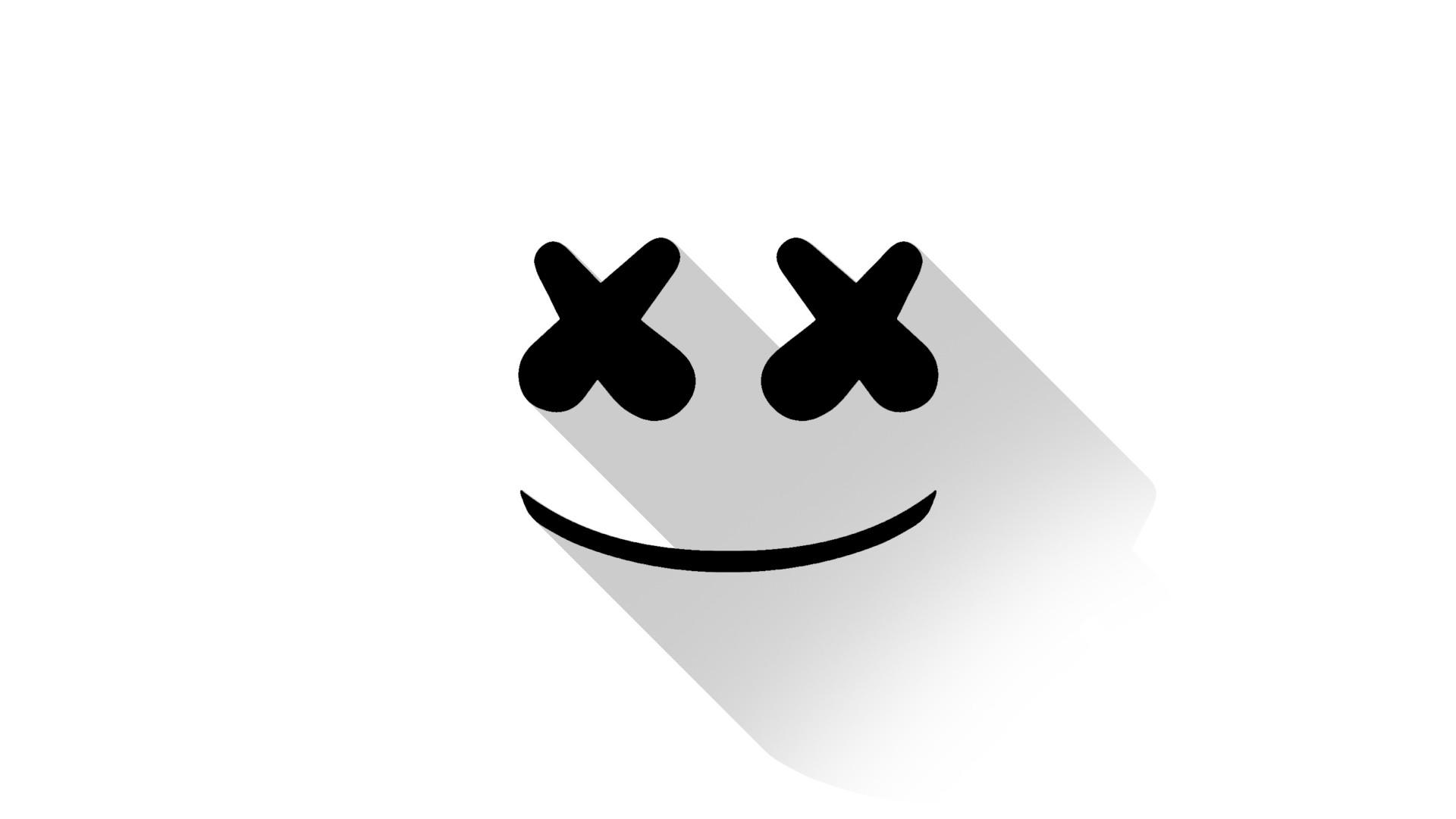 Wallpaper Ilustrasi Logo Gambar Kartun Marshmello Merek