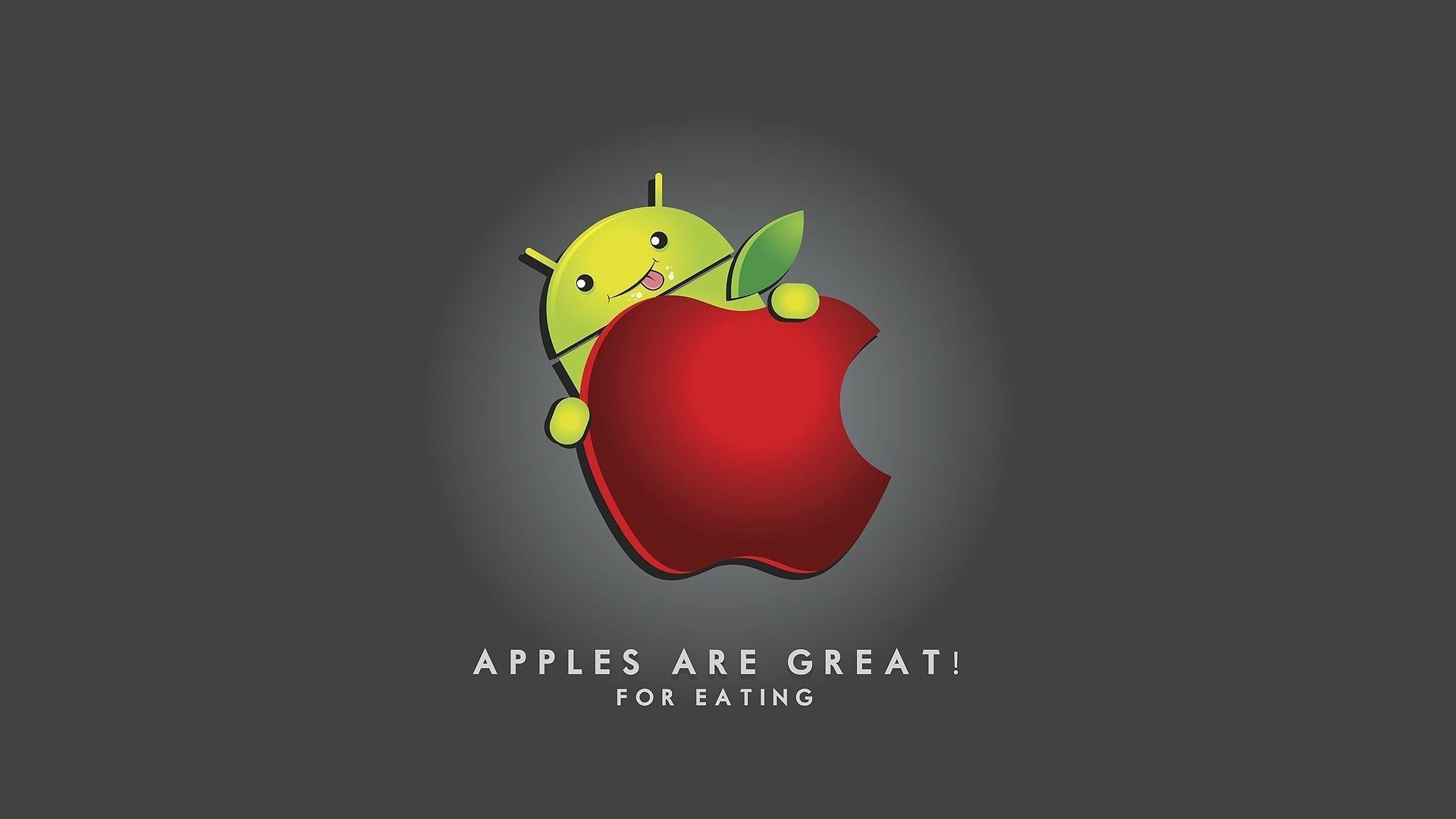 Wallpaper Ilustrasi Logo Gambar Kartun Apel Sistem