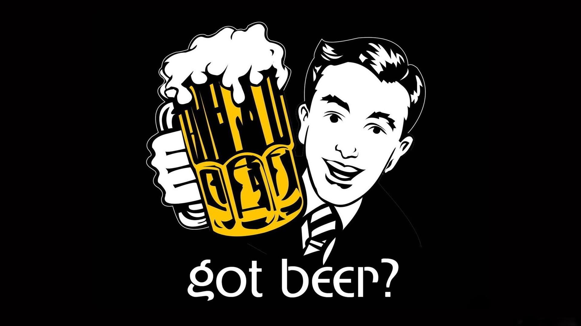 Papel De Parede Ilustracao Logotipo Desenho Animado Cerveja