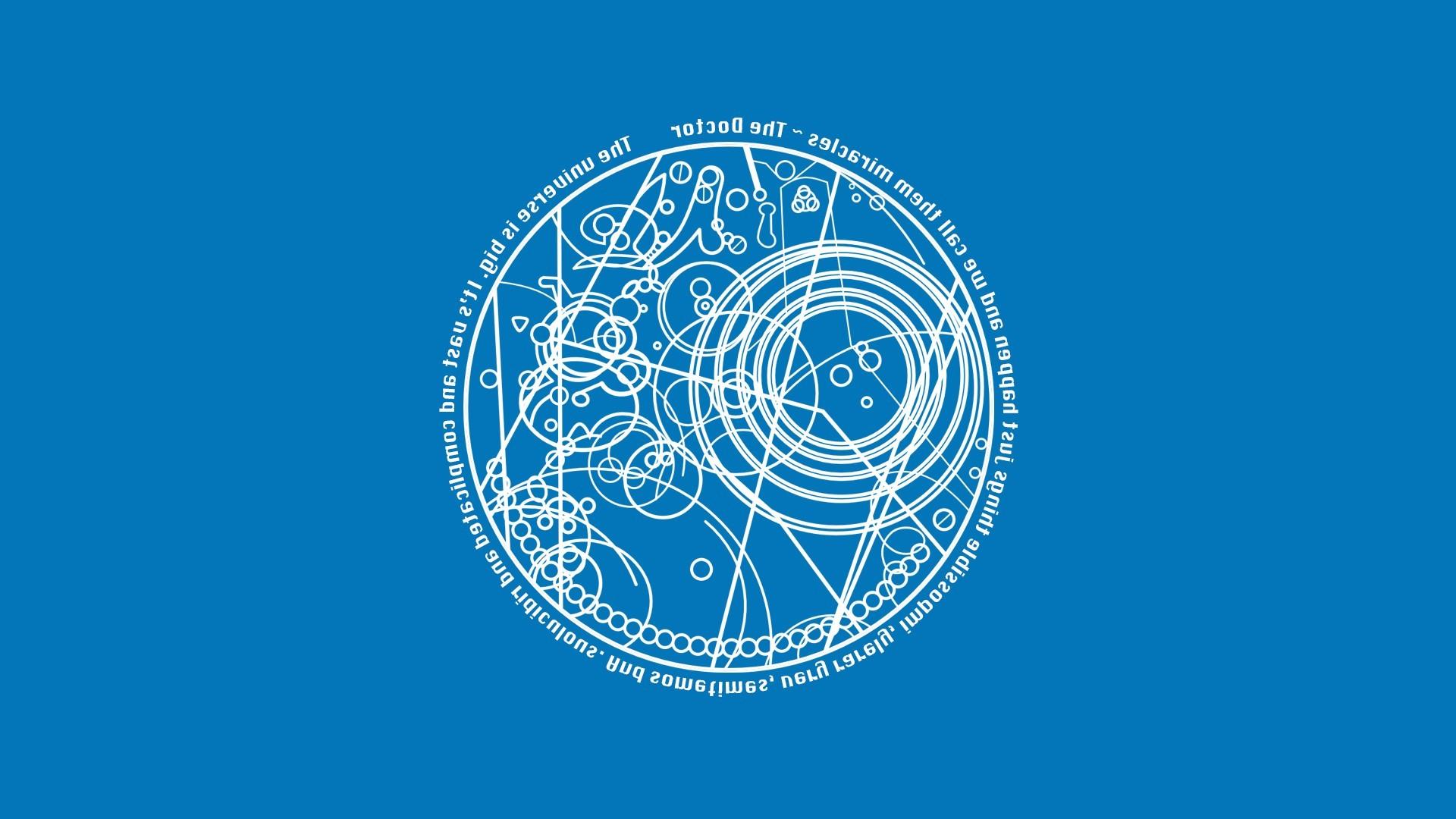 Wallpaper illustration logo pattern Doctor Who magic circle