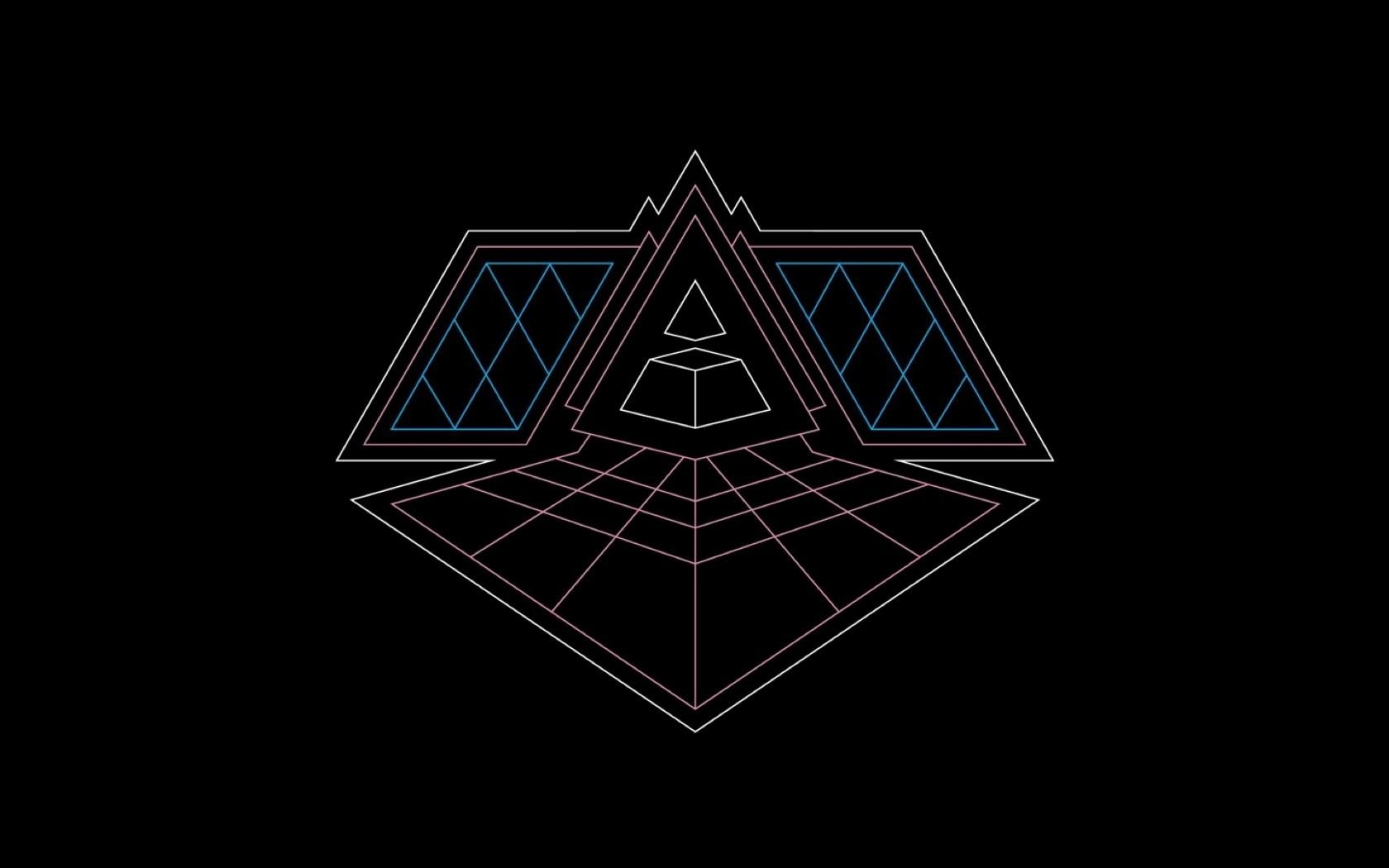 Wallpaper Illustration Logo Symmetry Triangle Pattern Circle Daft Punk Shape Design Line Font 1680x1050 Kingbailey 167016 Hd Wallpapers Wallhere