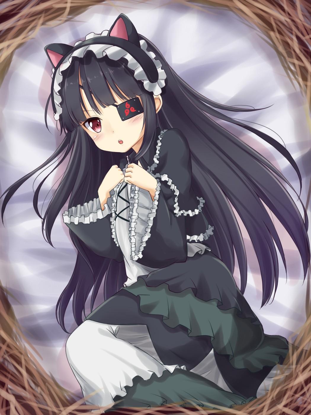 Wallpaper : illustration, long hair, anime girls, animal ...