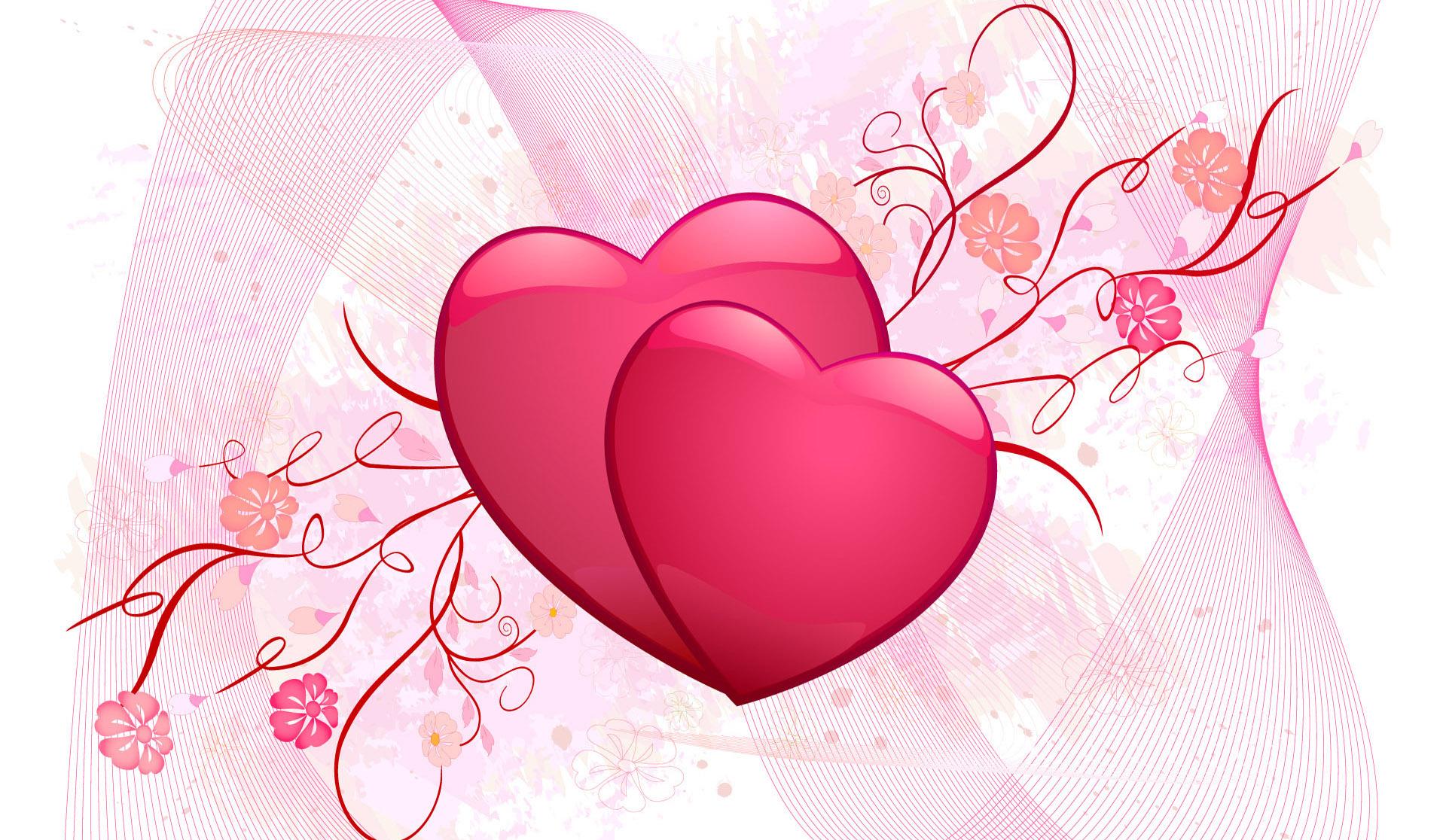 デスクトップ壁紙 愛 ハート バレンタイン デー ピンク