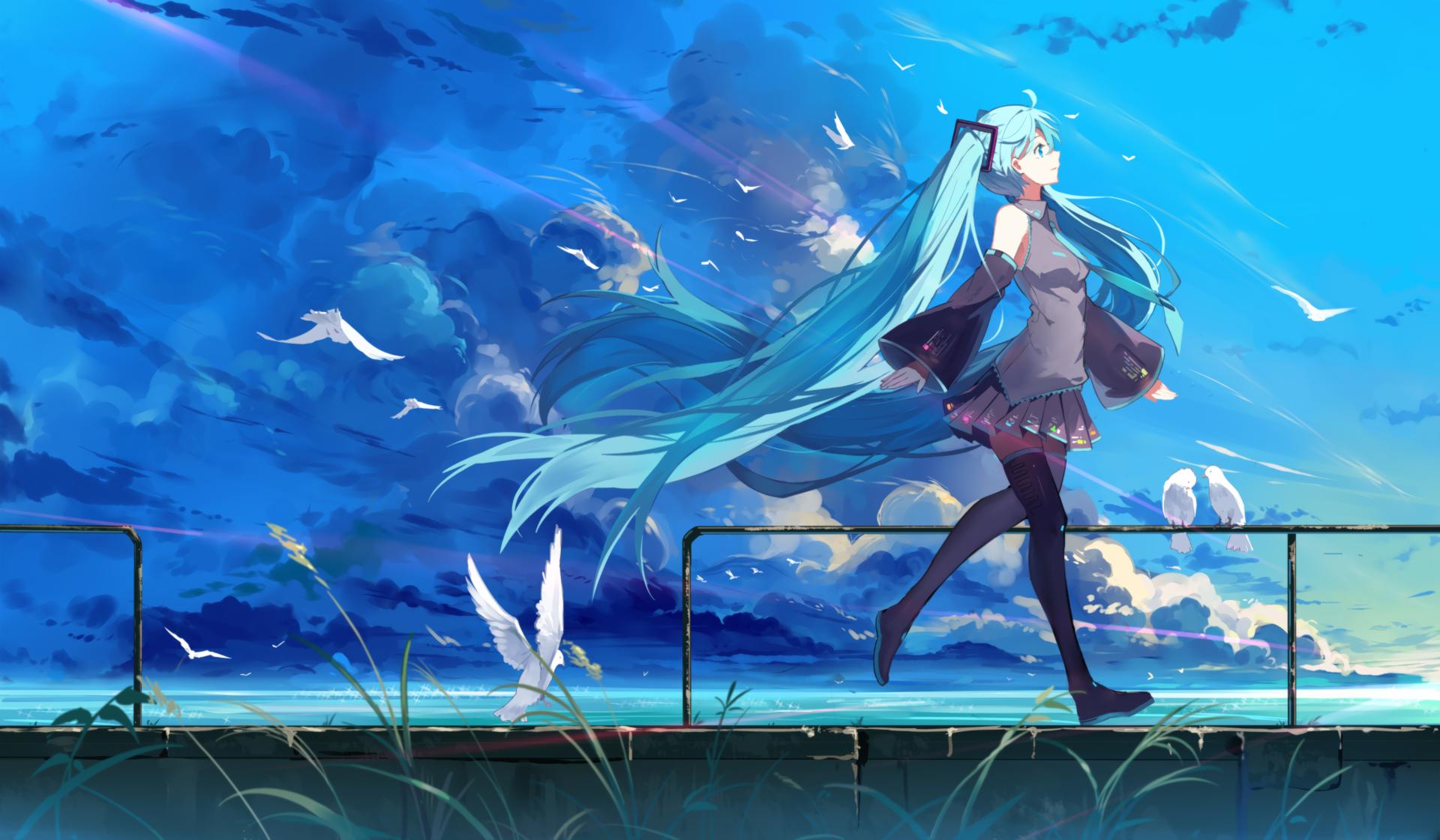 Fondos De Pantalla Ilustración Manga Azul Submarino