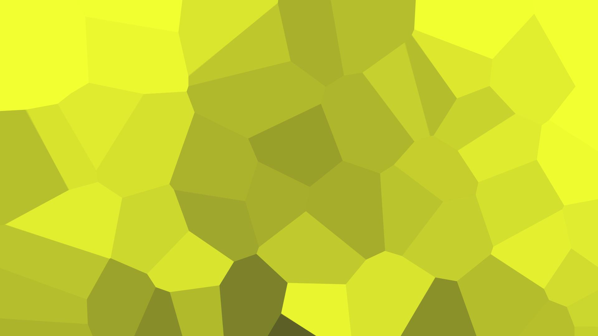 Irasi Minimalis Hijau Kuning Sederhana Pola Tekstur Kristal Lingkaran Terang Daun Bentuk Desain Garis Wallpaper Komputer