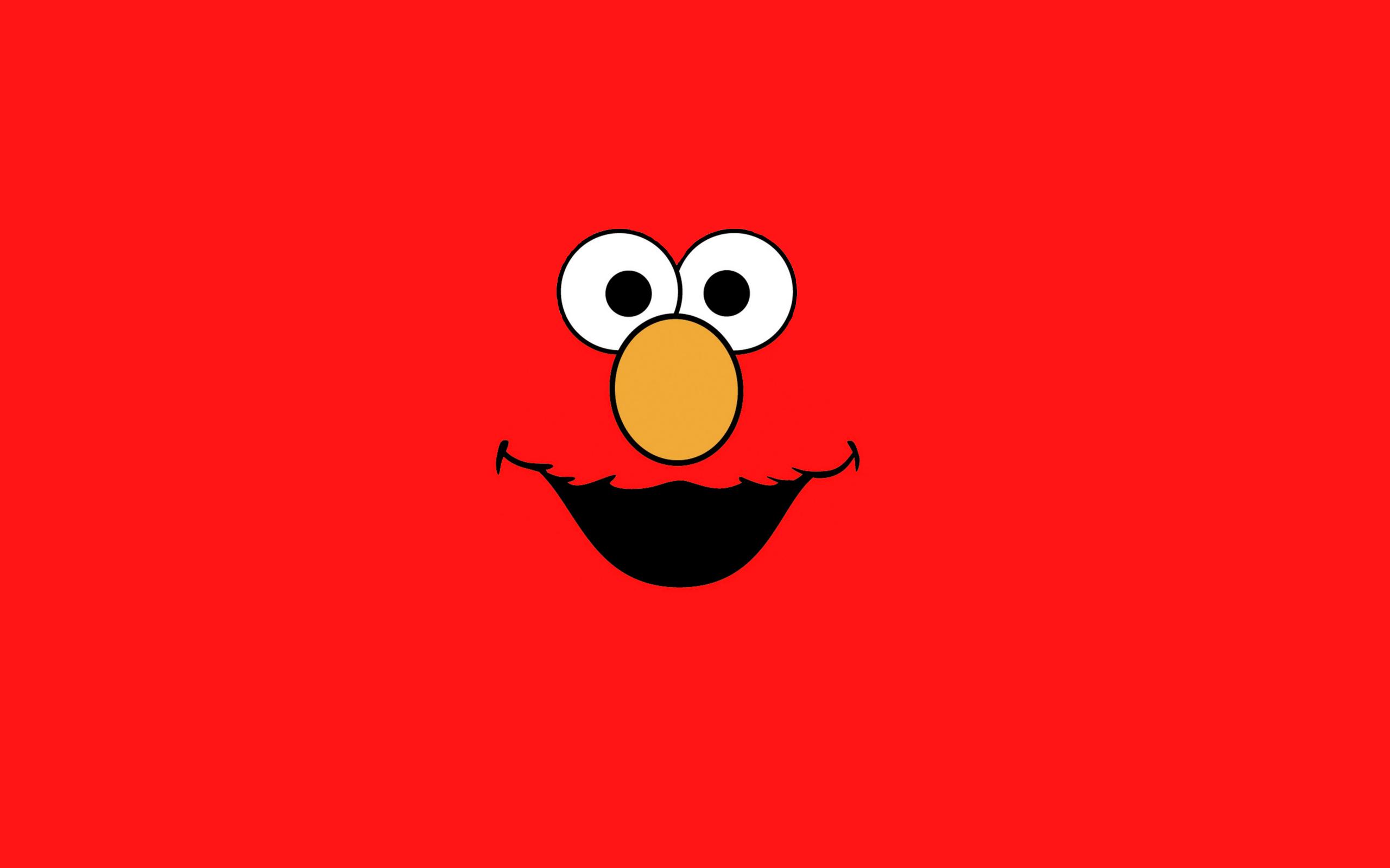 Illustration Minimalism Logo Cartoon Sesame Street Elmo 2560x1600 Px