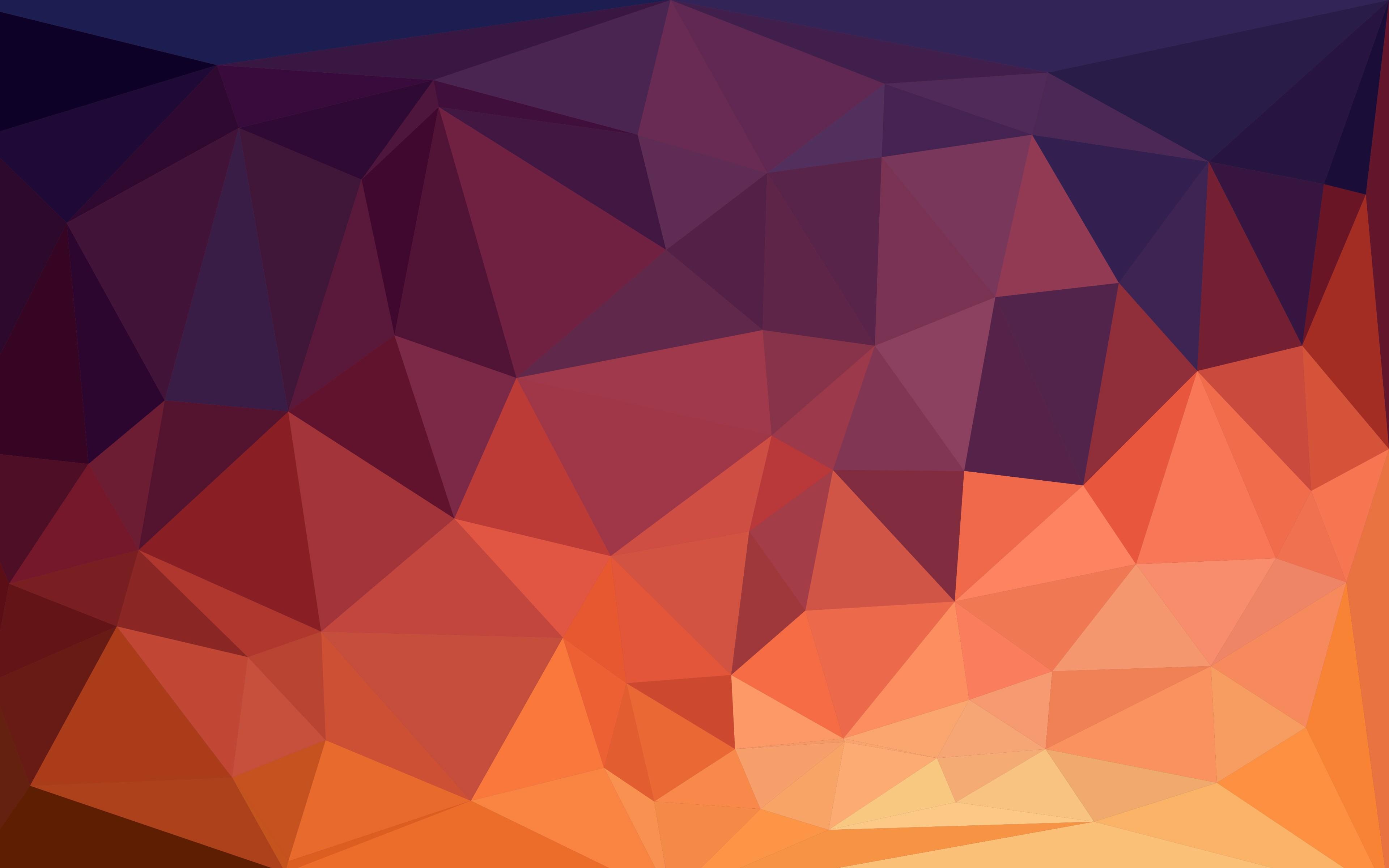 illustration minimalism low poly symmetry triangle pattern orange circle ART color shape design line computer wallpaper font 222247