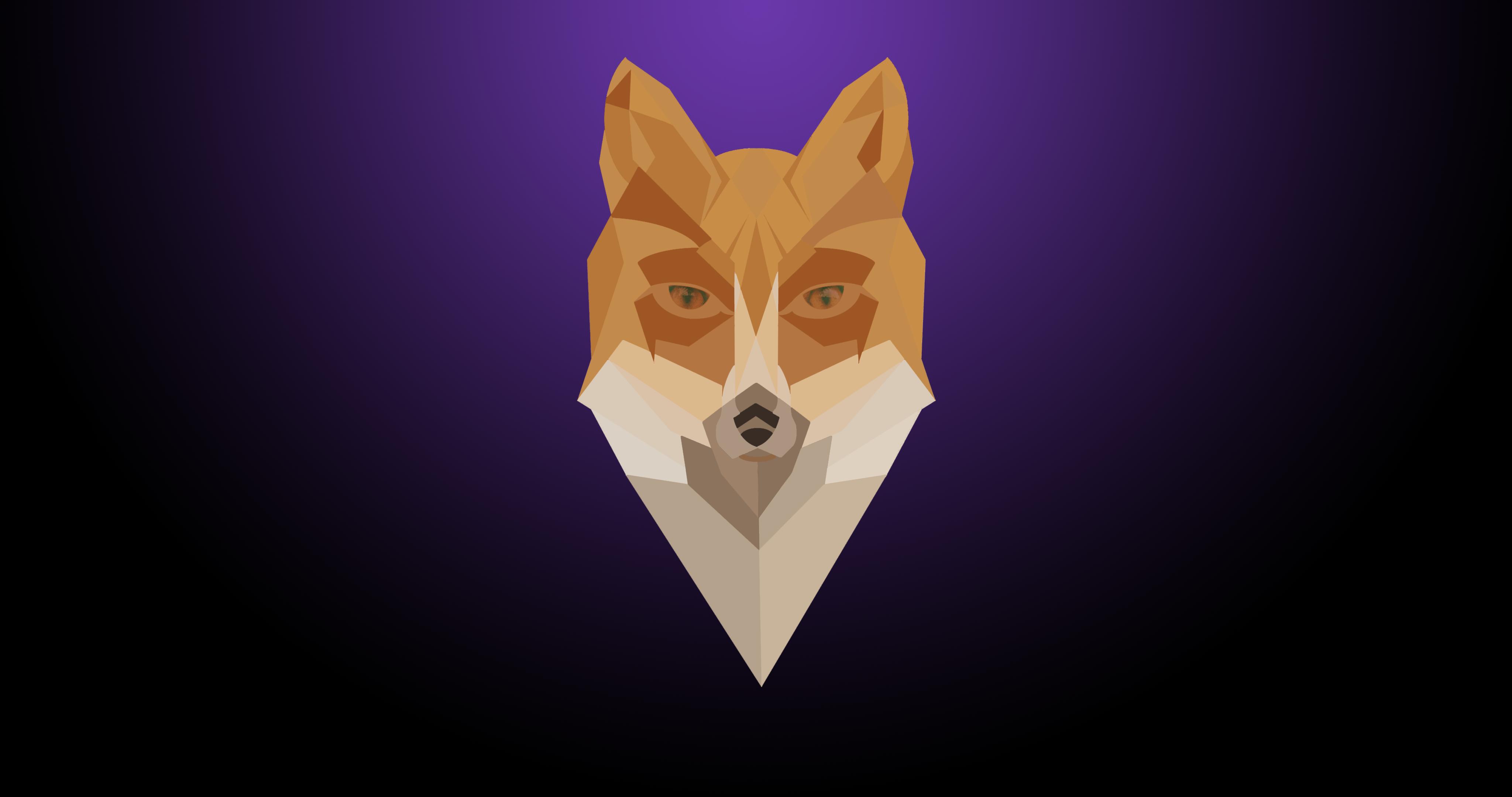 Wallpaper Illustration Minimalism Purple Fox ART Bat