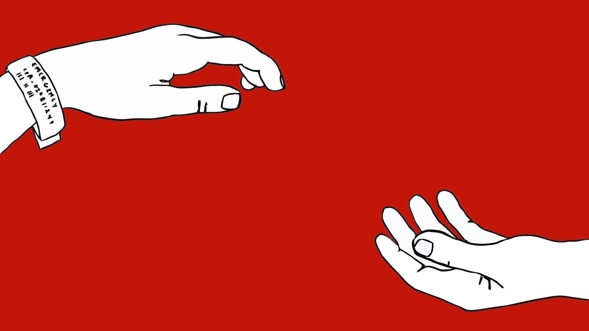 Wallpaper Ilustrasi Minimalis Merah Gambar Kartun The Antlers