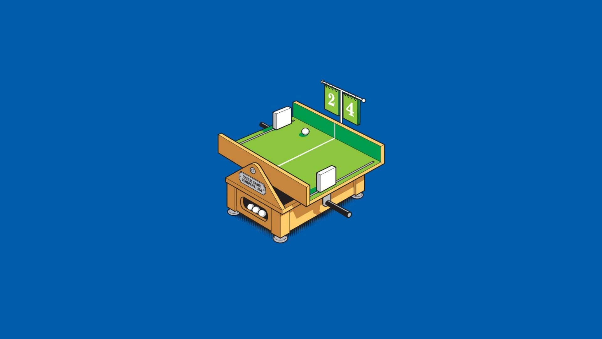Wallpaper Illustration Minimalism Retro Games Machine Ping