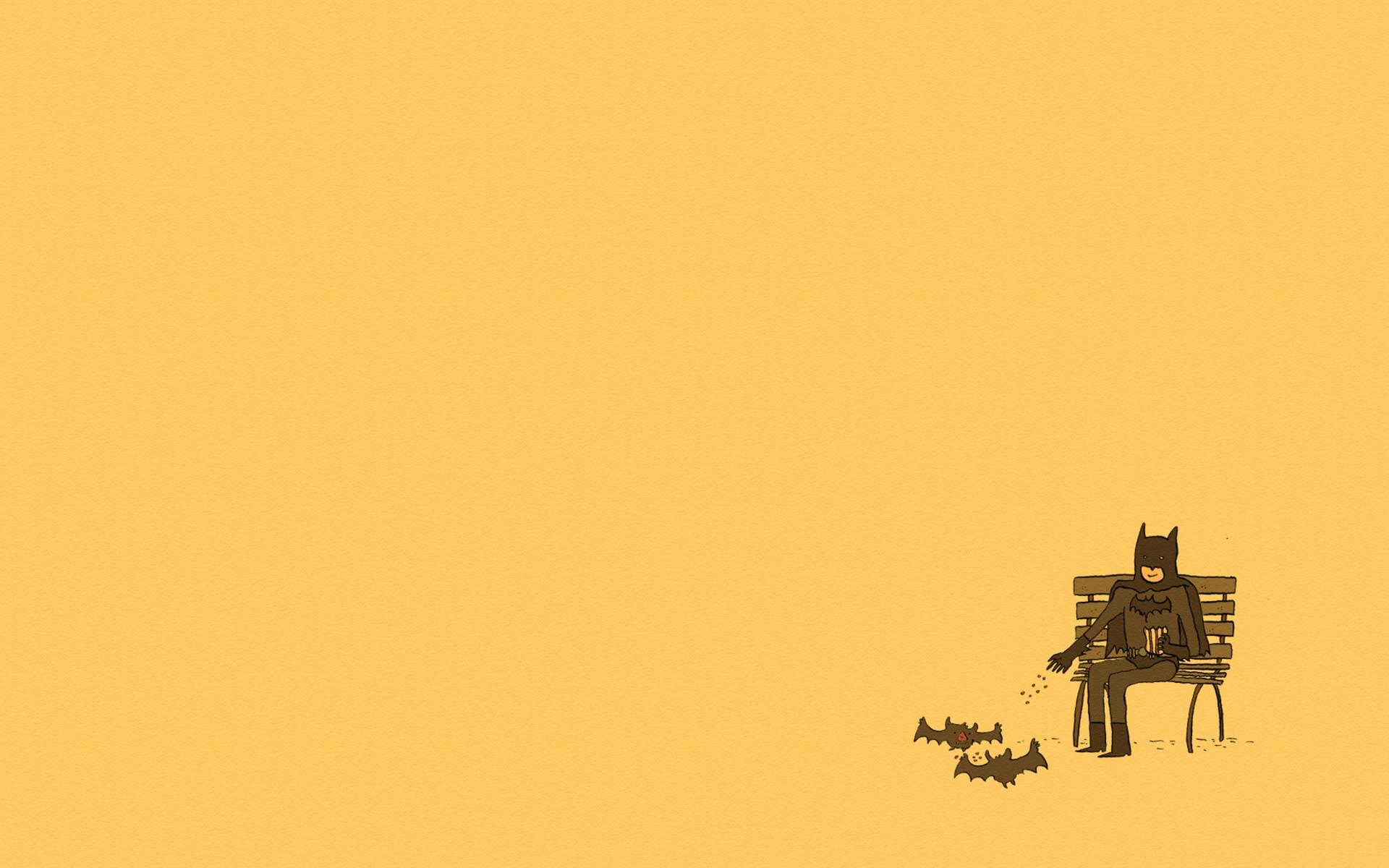 illustration minimalism sky Batman yellow morning comics screenshot computer wallpaper font 636903