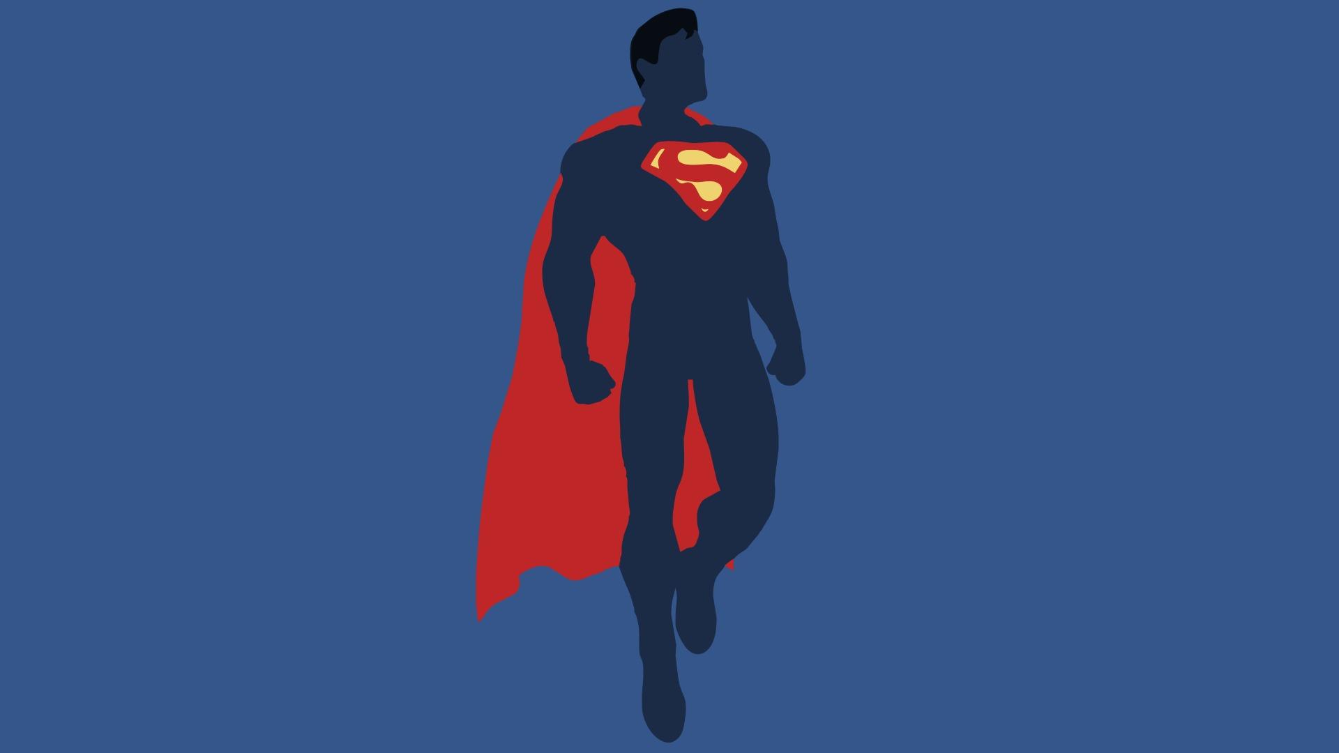 wallpaper : illustration, minimalism, superhero, dc comics, superman