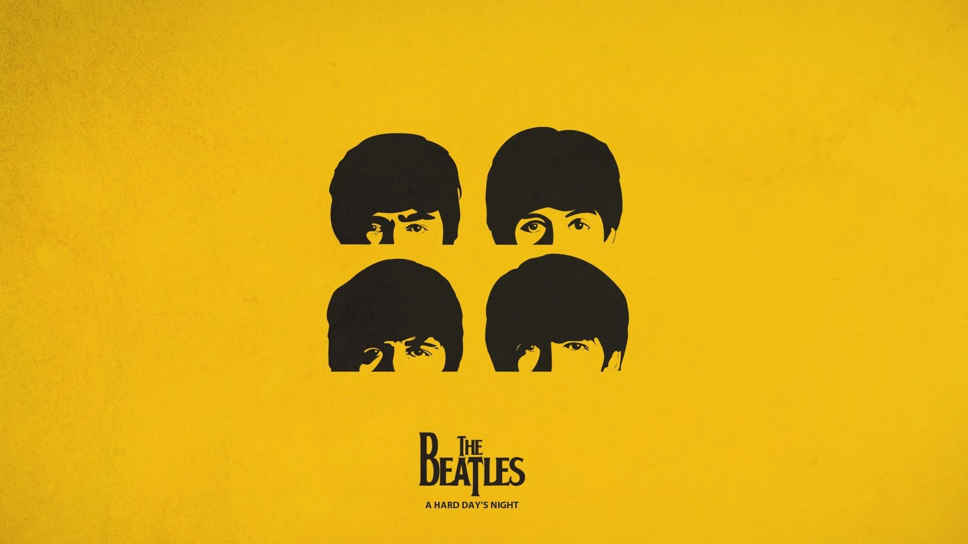 Illustration Minimalism Text Logo Yellow Graphic Design Circle The Beatles Poster Brand Font