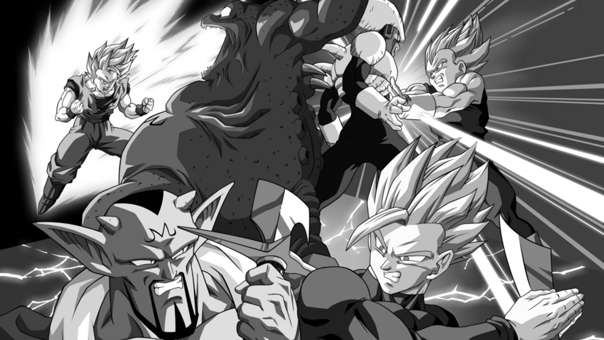 illustration monochrome anime cartoon Dragon Ball Z comics sketch black and white monochrome photography mangaka comics artist comic book 174489