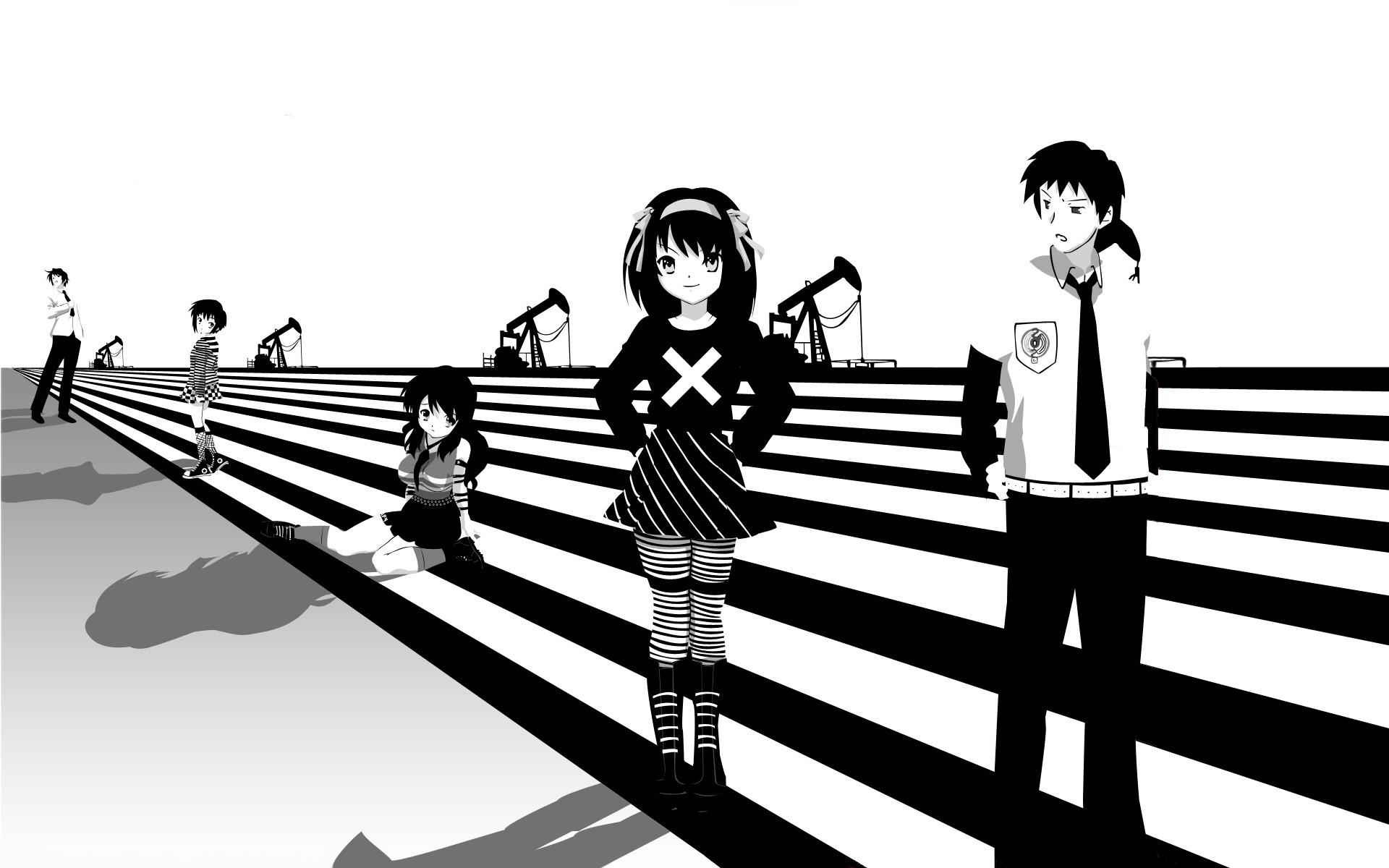デスクトップ壁紙 図 アニメ シルエット 漫画 涼宮ハルヒの憂鬱