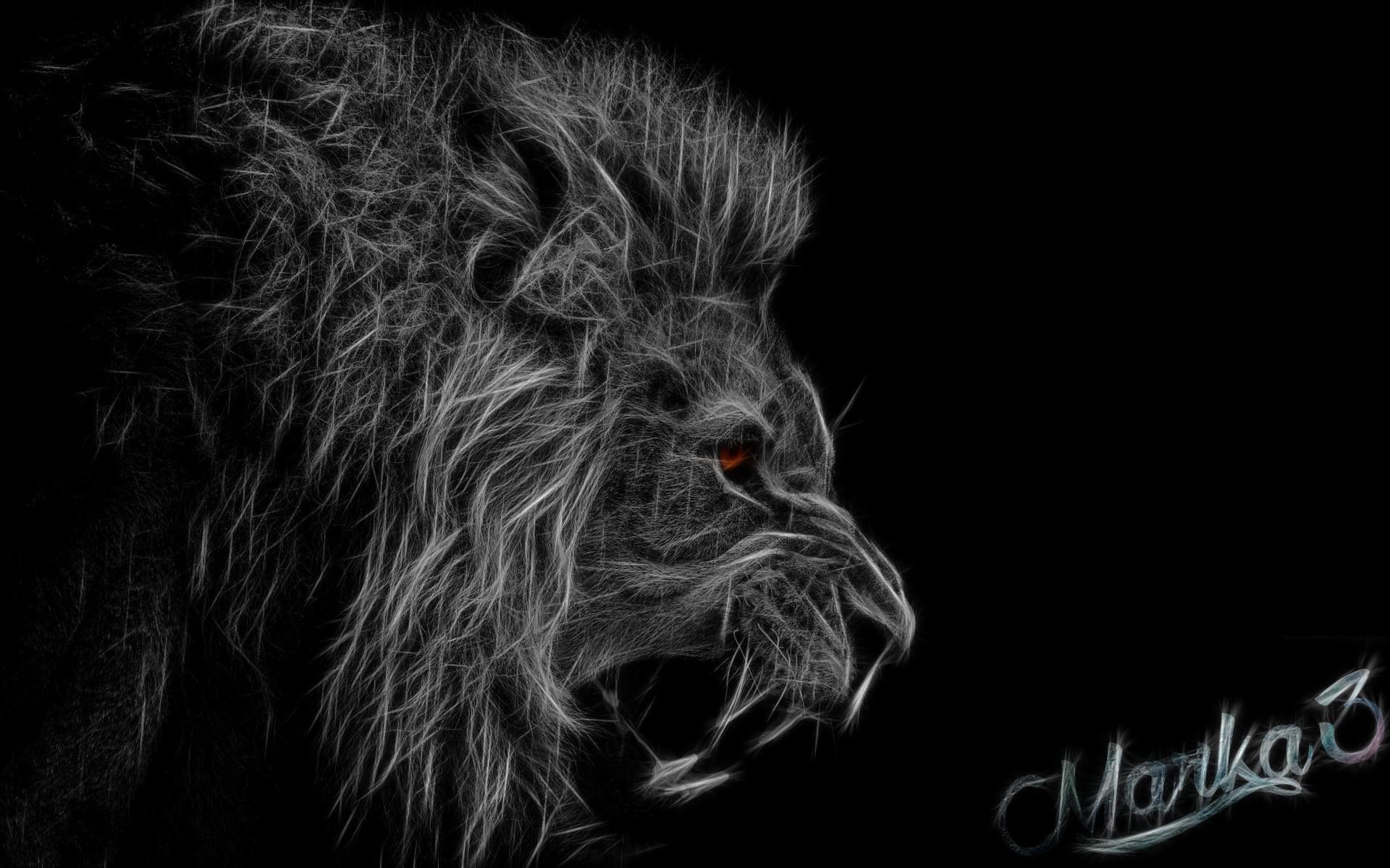 Hintergrundbilder Illustration Einfarbig Löwe Werwolf