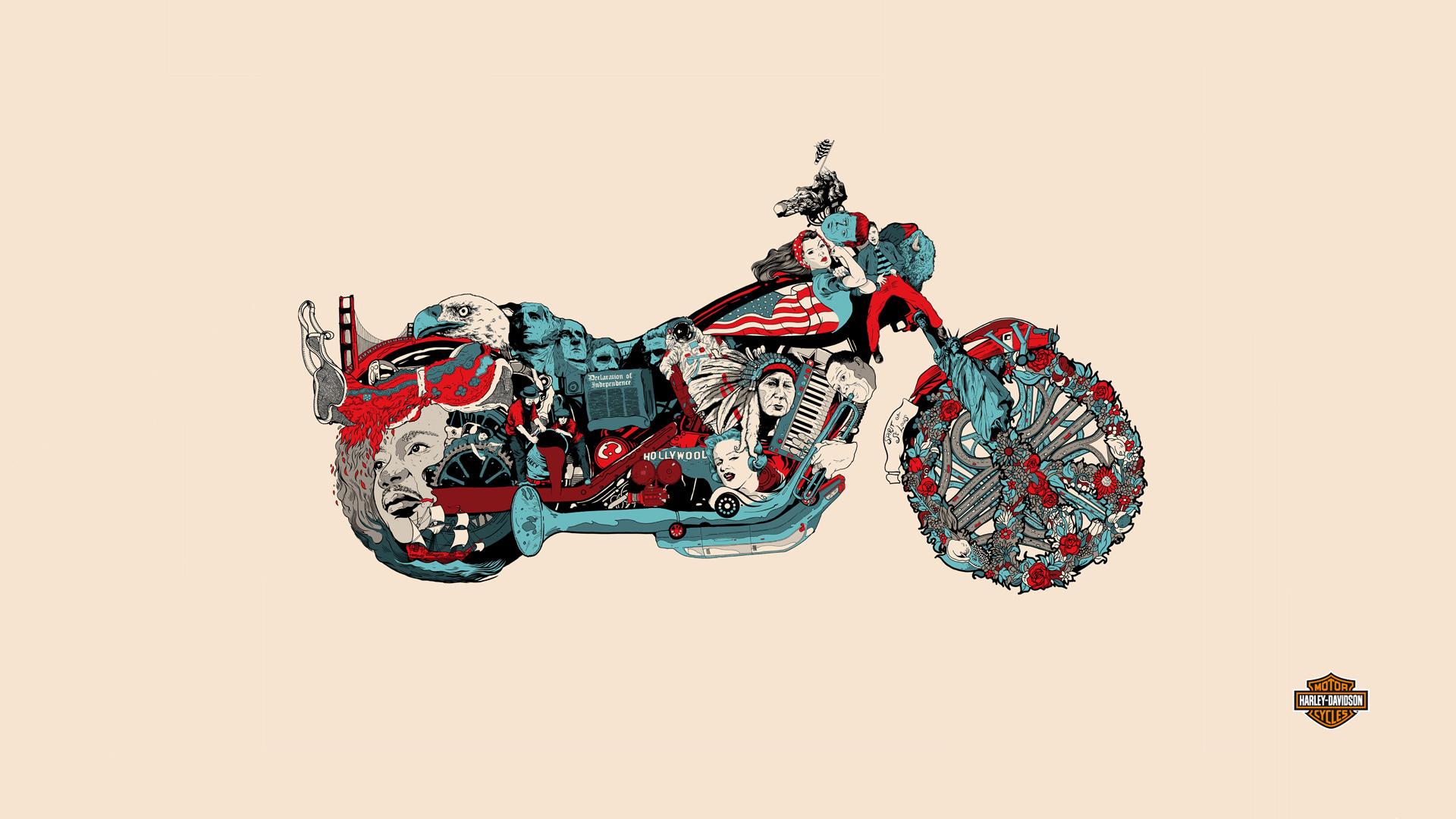 Sfondi Illustrazione Motociclo Veicolo Cartone Animato Storia