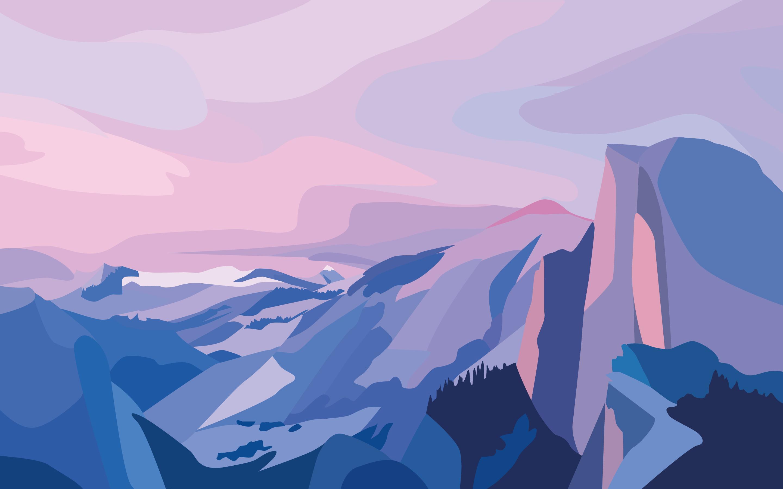 74 Gambar Ilustrasi Pemandangan Alam Pegunungan