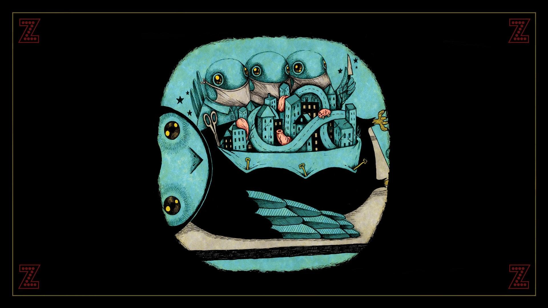 Wallpaper Ilustrasi Musik Desain Grafis Cover Art Burung