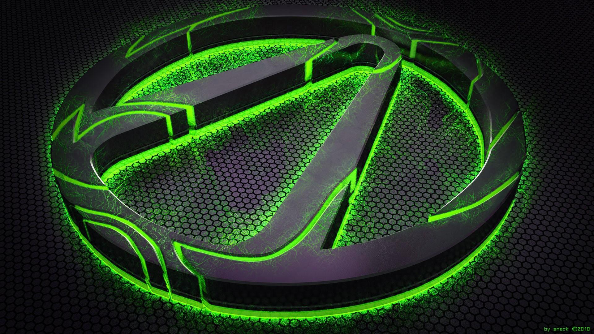 wallpaper : illustration, neon, green, circle, ball, borderlands