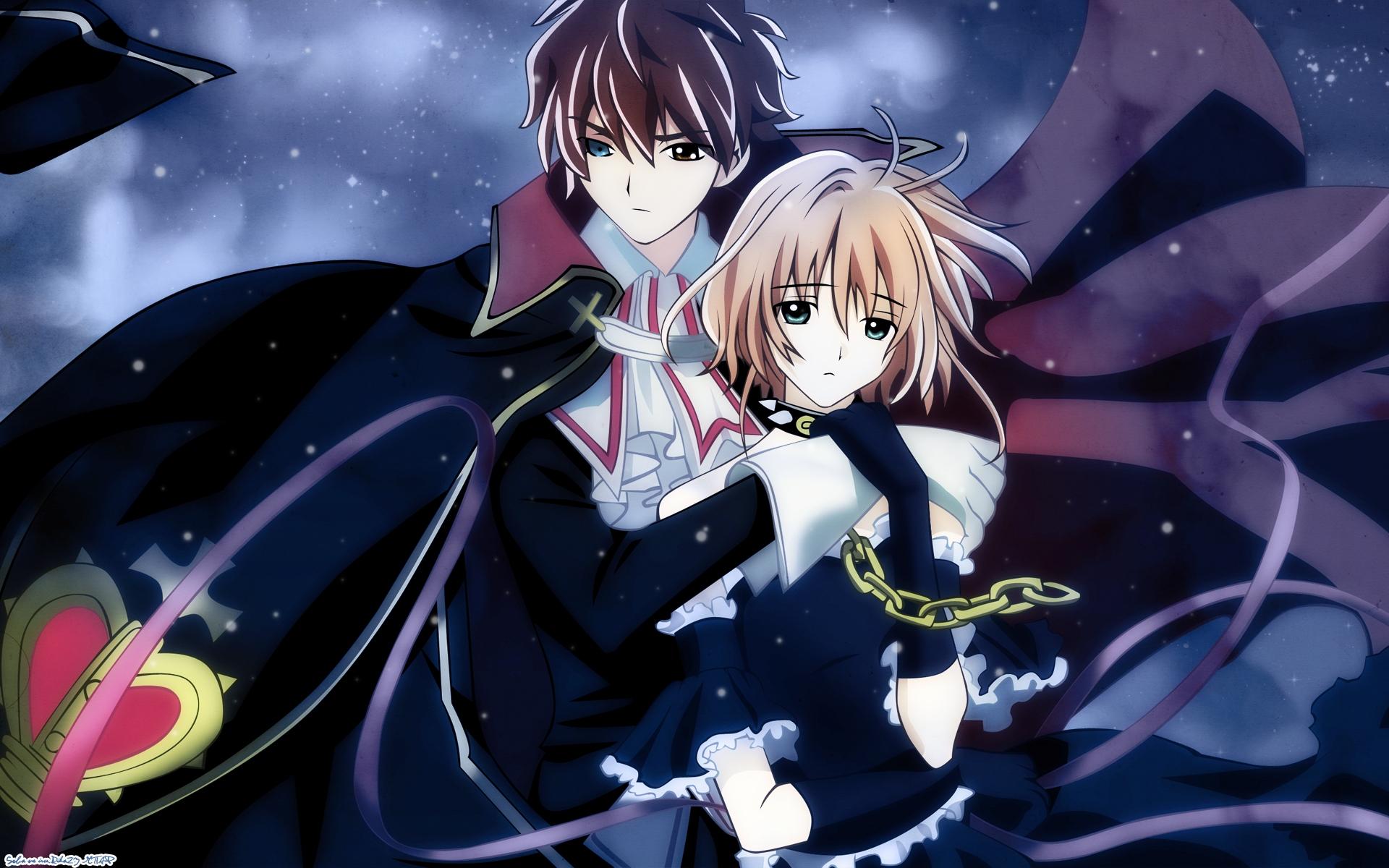 Wallpaper : illustration, night, anime, artwork, Tsubasa Reservoir Chronicle, boy, girl, embrace ...